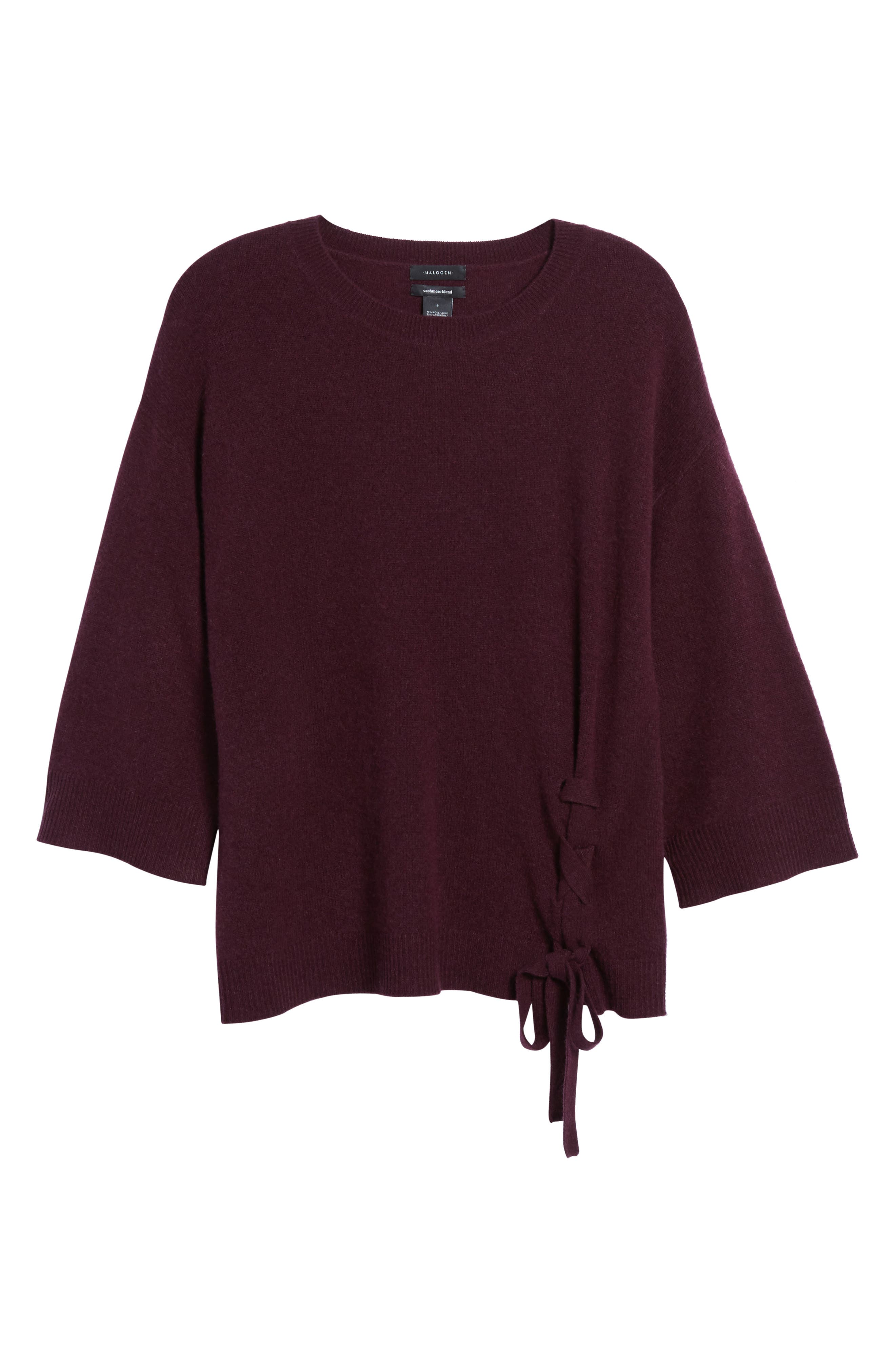 Side Tie Wool and Cashmere Sweater,                             Alternate thumbnail 35, color,
