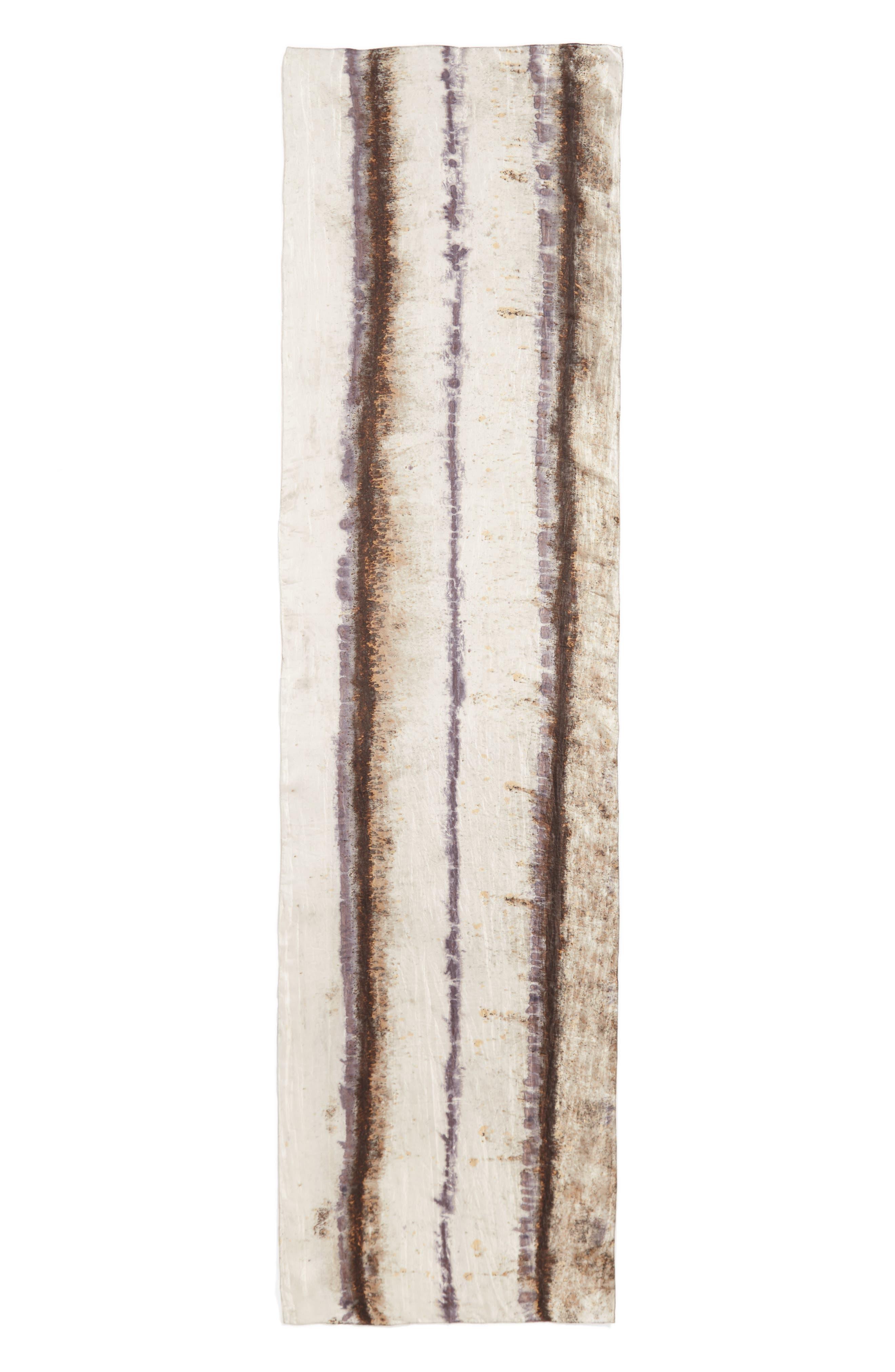 Stripe Silk Scarf,                             Alternate thumbnail 3, color,                             022