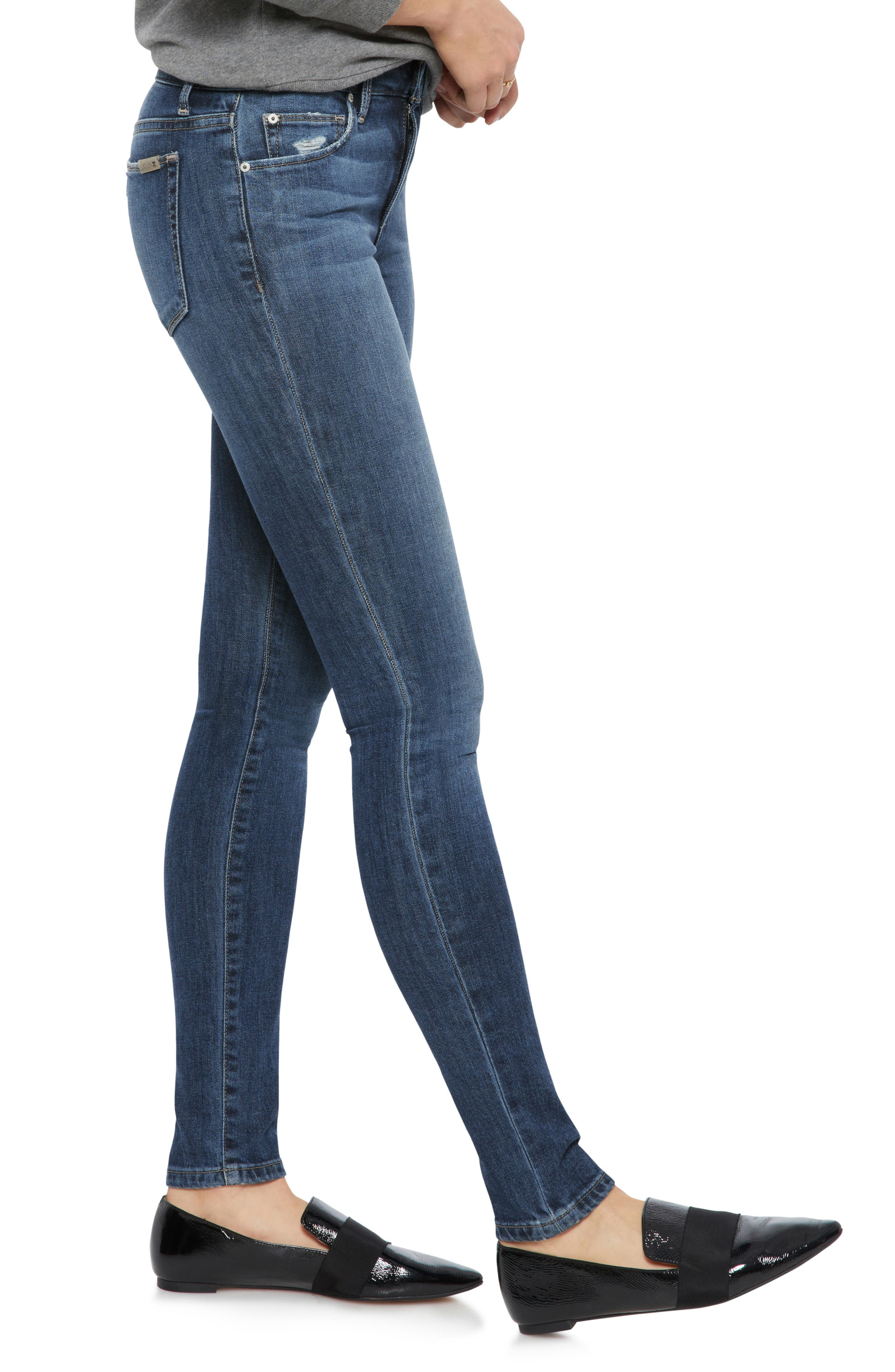 Icon Skinny Jeans,                             Alternate thumbnail 3, color,                             421