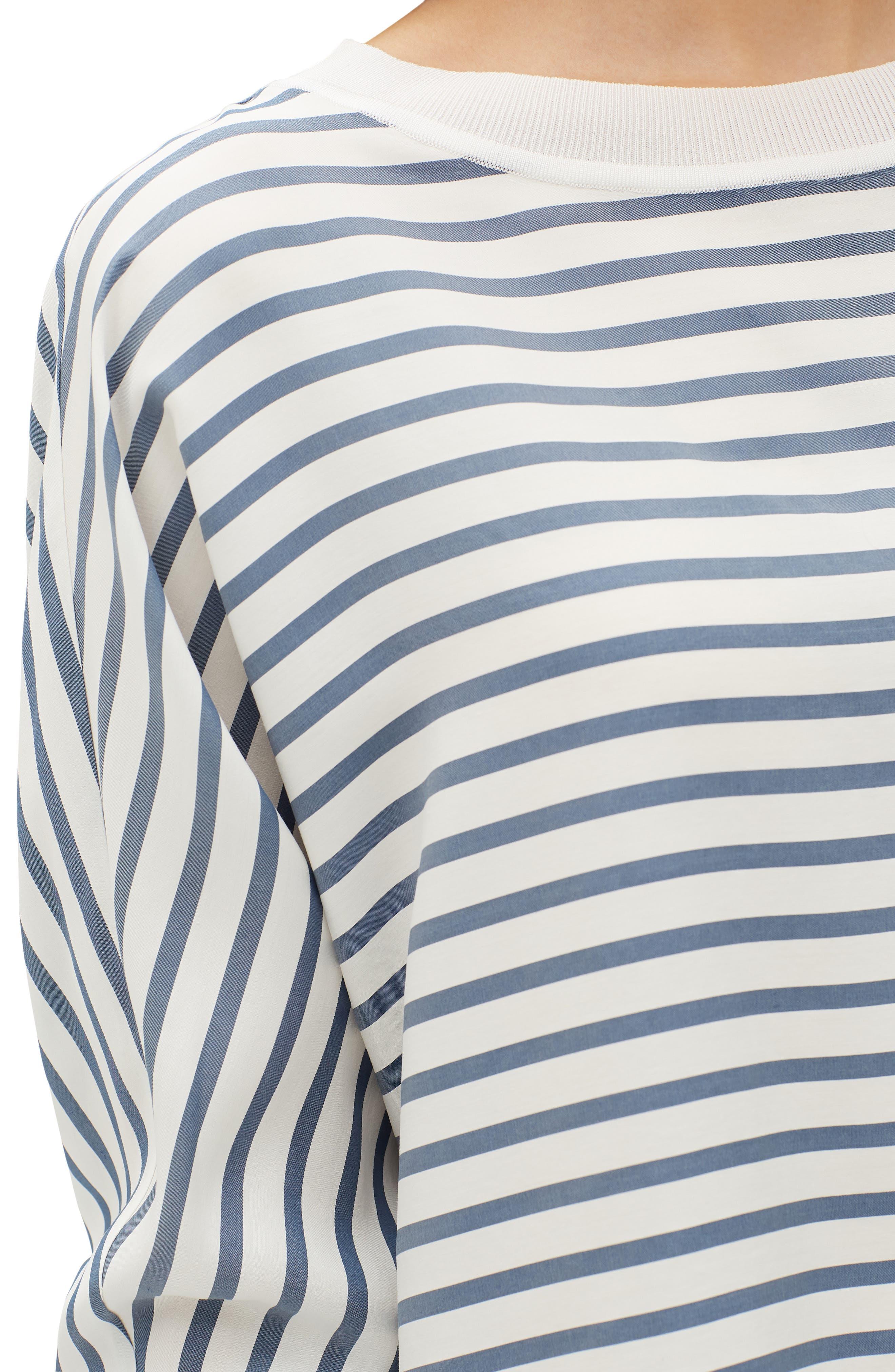 Joplin Stripe Silk Blouse,                             Alternate thumbnail 3, color,                             400
