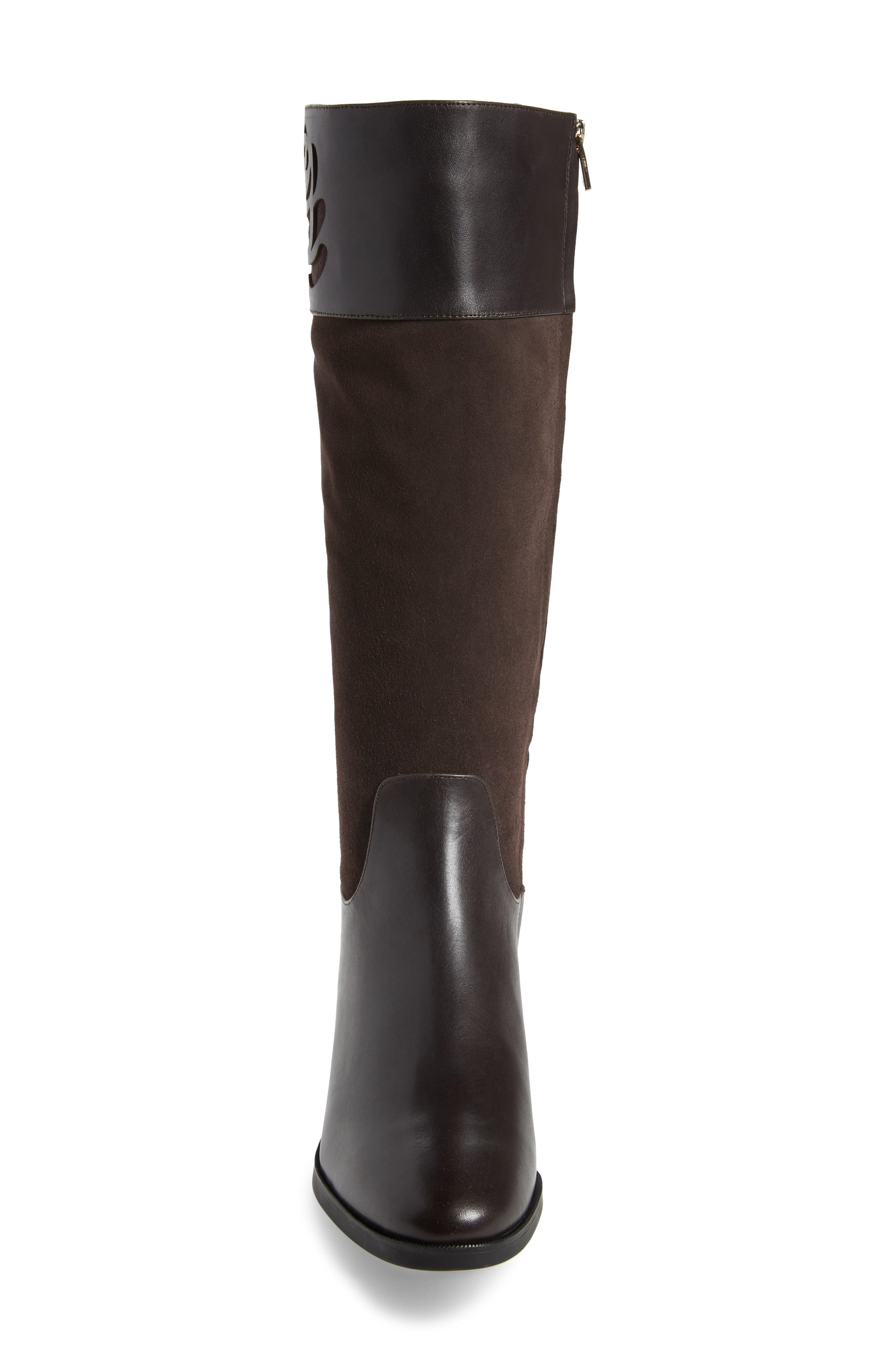 TARYN ROSE,                             Georgia Water Resistant Collection Boot,                             Alternate thumbnail 4, color,                             CHOCOLATE LEATHER/ SUEDE