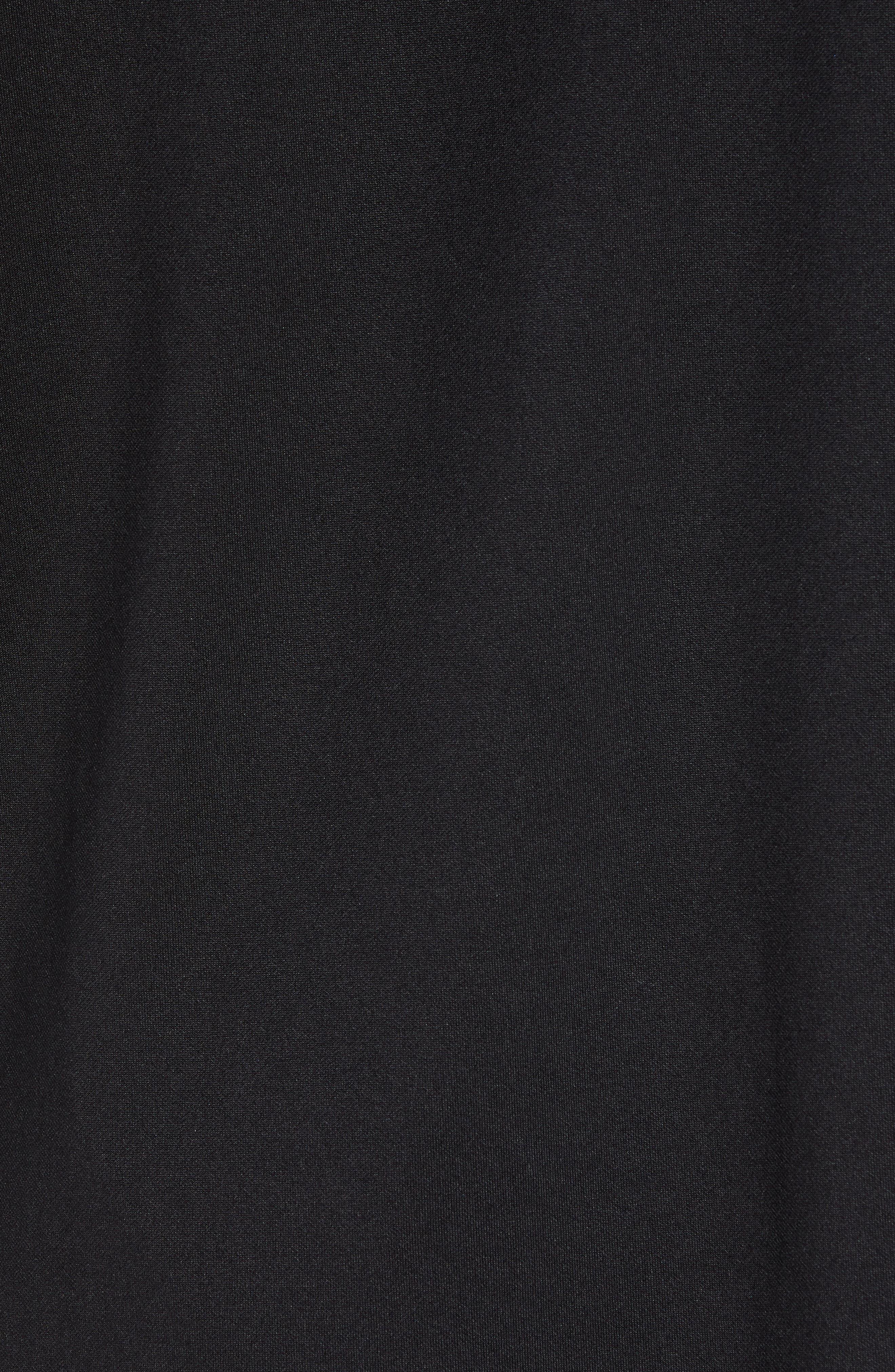 Foil Detail Hoodie,                             Alternate thumbnail 5, color,                             TRUEST BLACK/ BLUE FOIL