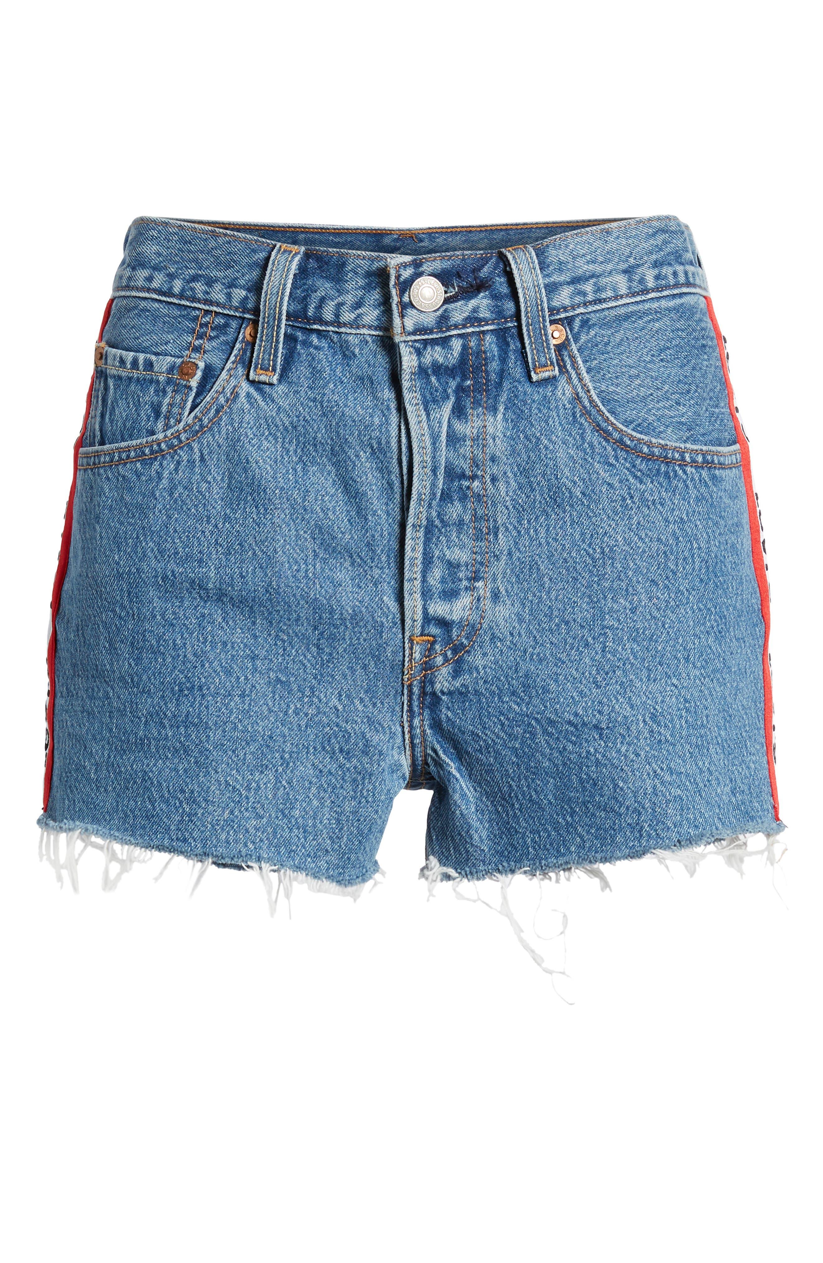 501<sup>®</sup> Cutoff Denim Shorts,                             Alternate thumbnail 7, color,                             420