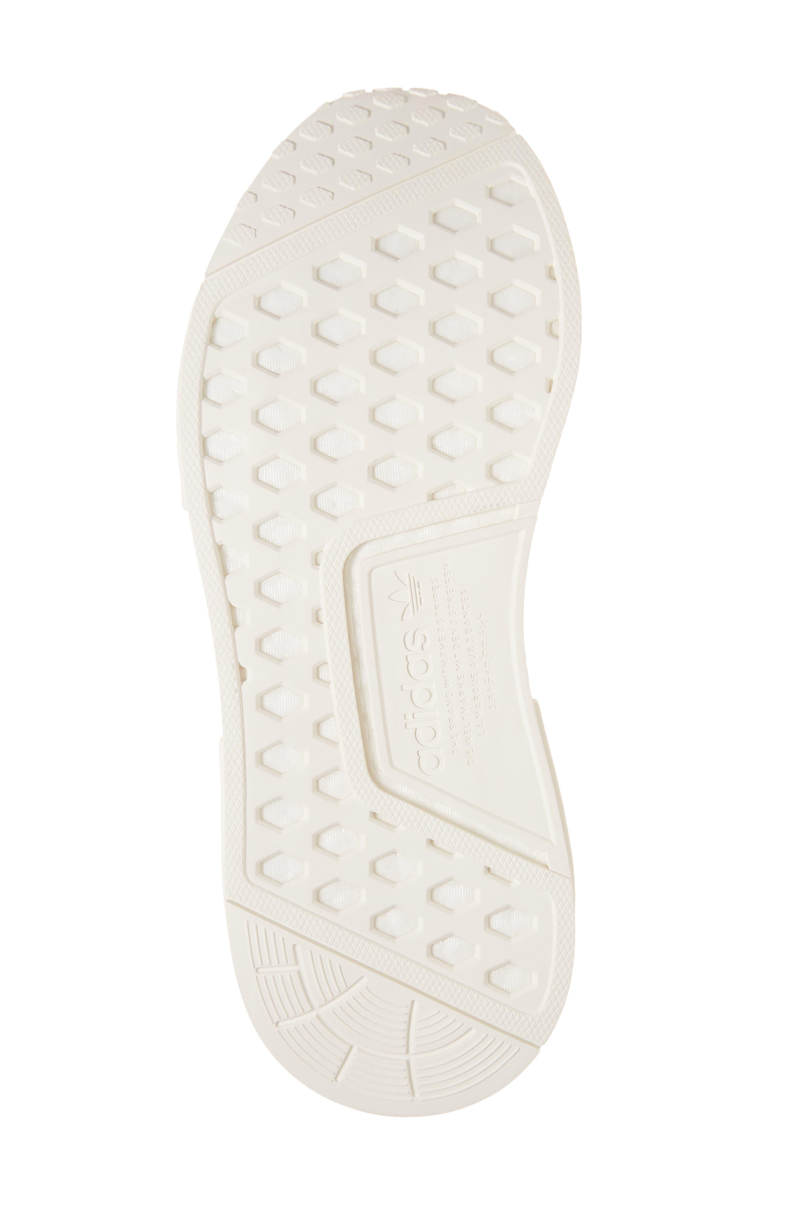 NMD_CS1 Primeknit Sneaker,                             Alternate thumbnail 6, color,                             CLOUD WHITE/ CLEAR ORANGE
