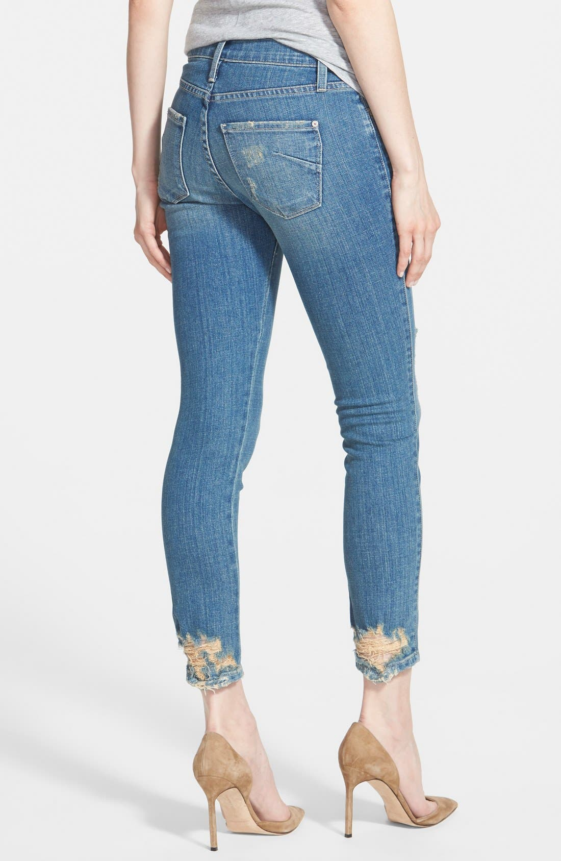 'Twiggy' Ankle Skinny Jeans,                             Alternate thumbnail 4, color,                             400