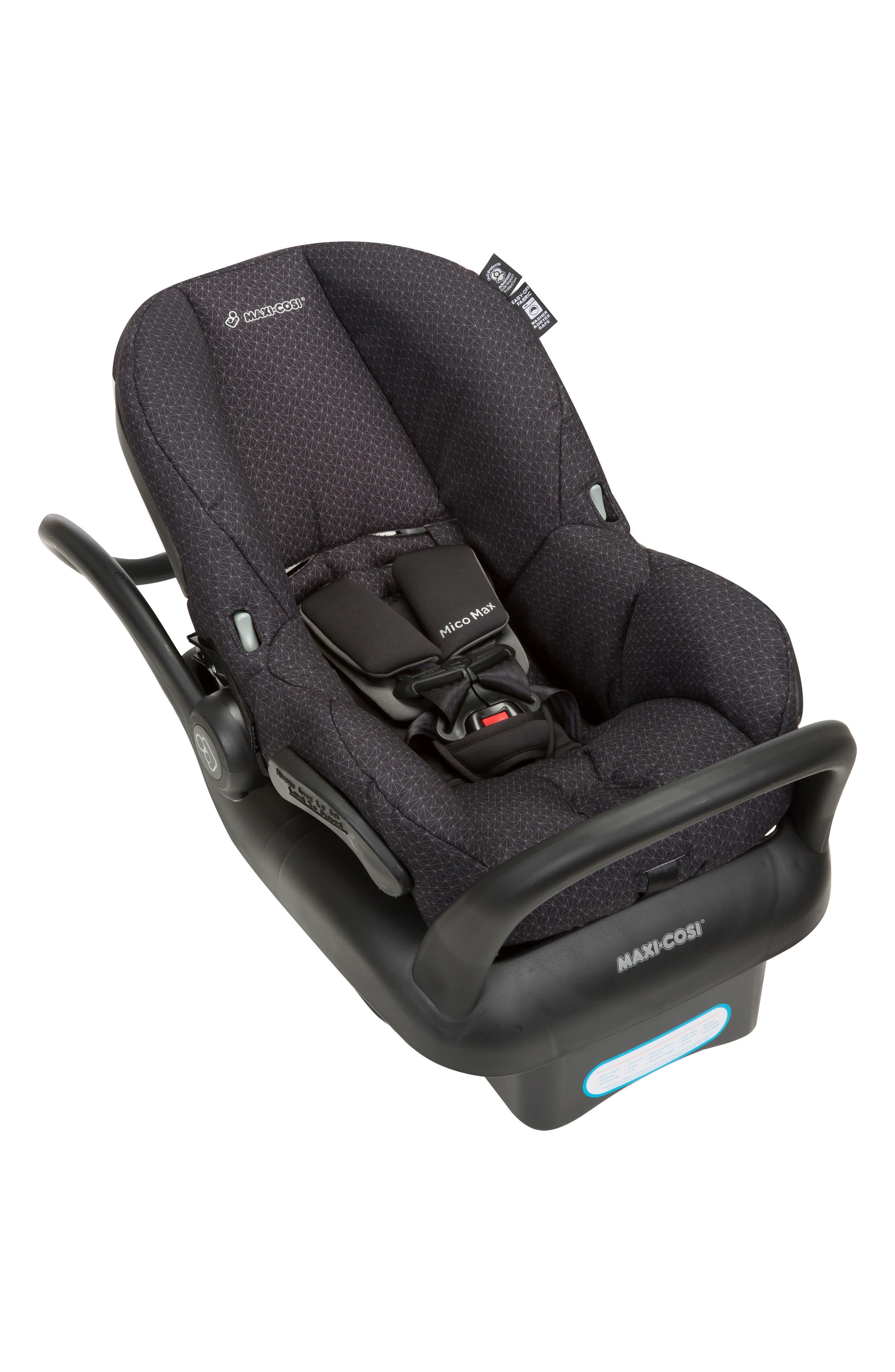 Mico Max 30 Infant Car Seat,                             Alternate thumbnail 5, color,                             BLACK CRYSTAL