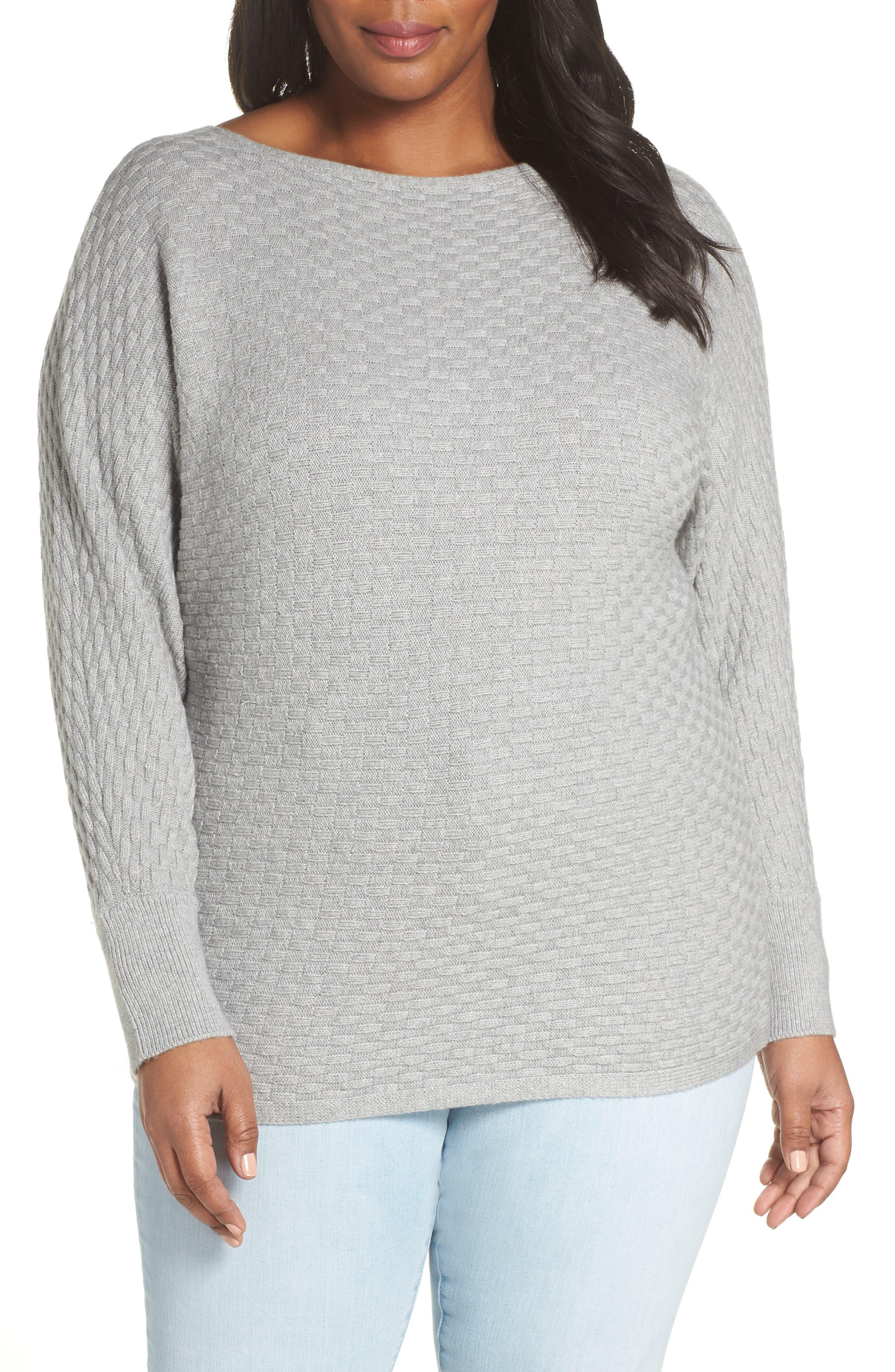 Boatneck Sweater,                         Main,                         color, LIGHT HEATHER GREY