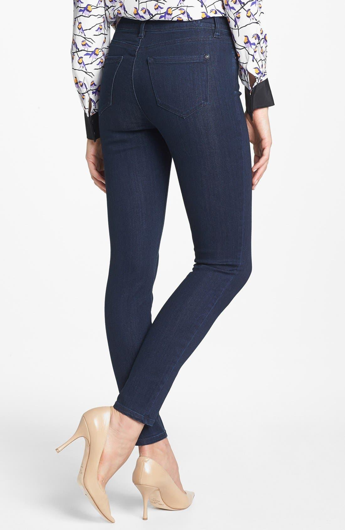 KENSIE,                             'Ankle Biter' High Rise Skinny Jeans,                             Alternate thumbnail 2, color,                             427