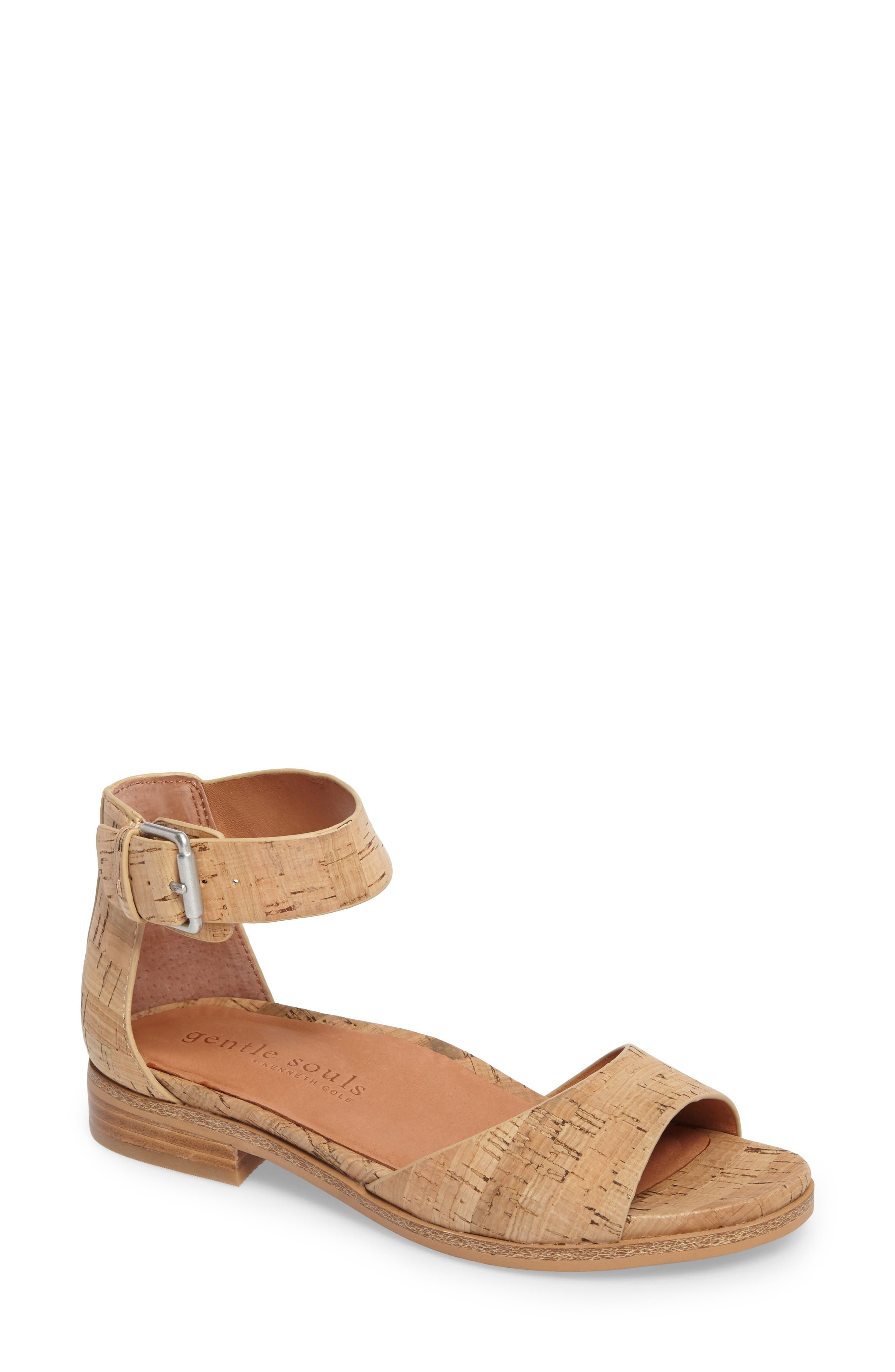 by Kenneth Cole Gracey Sandal,                             Main thumbnail 1, color,                             NATURAL CORK