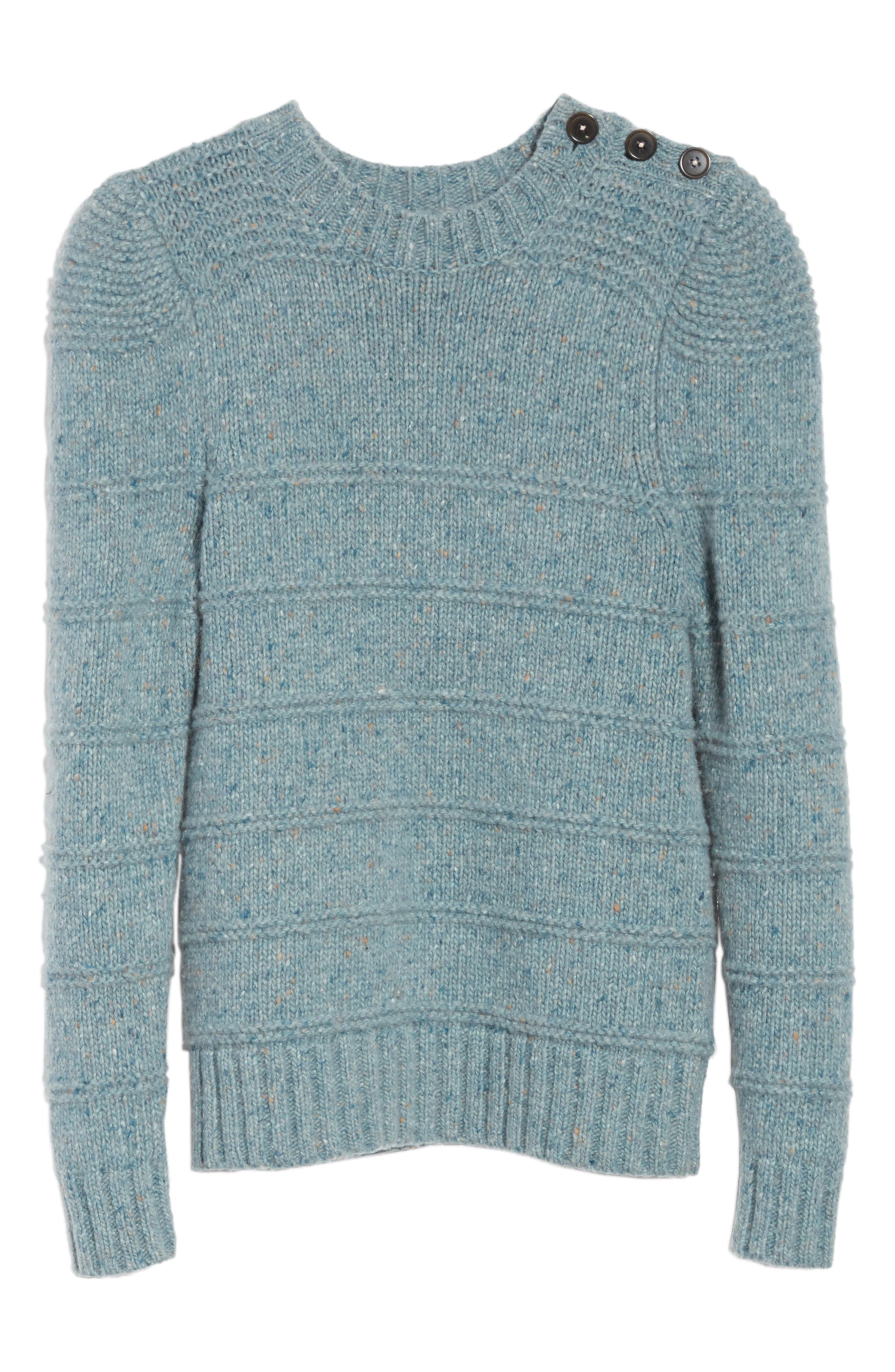 Donegal Tweed Pullover,                             Alternate thumbnail 6, color,