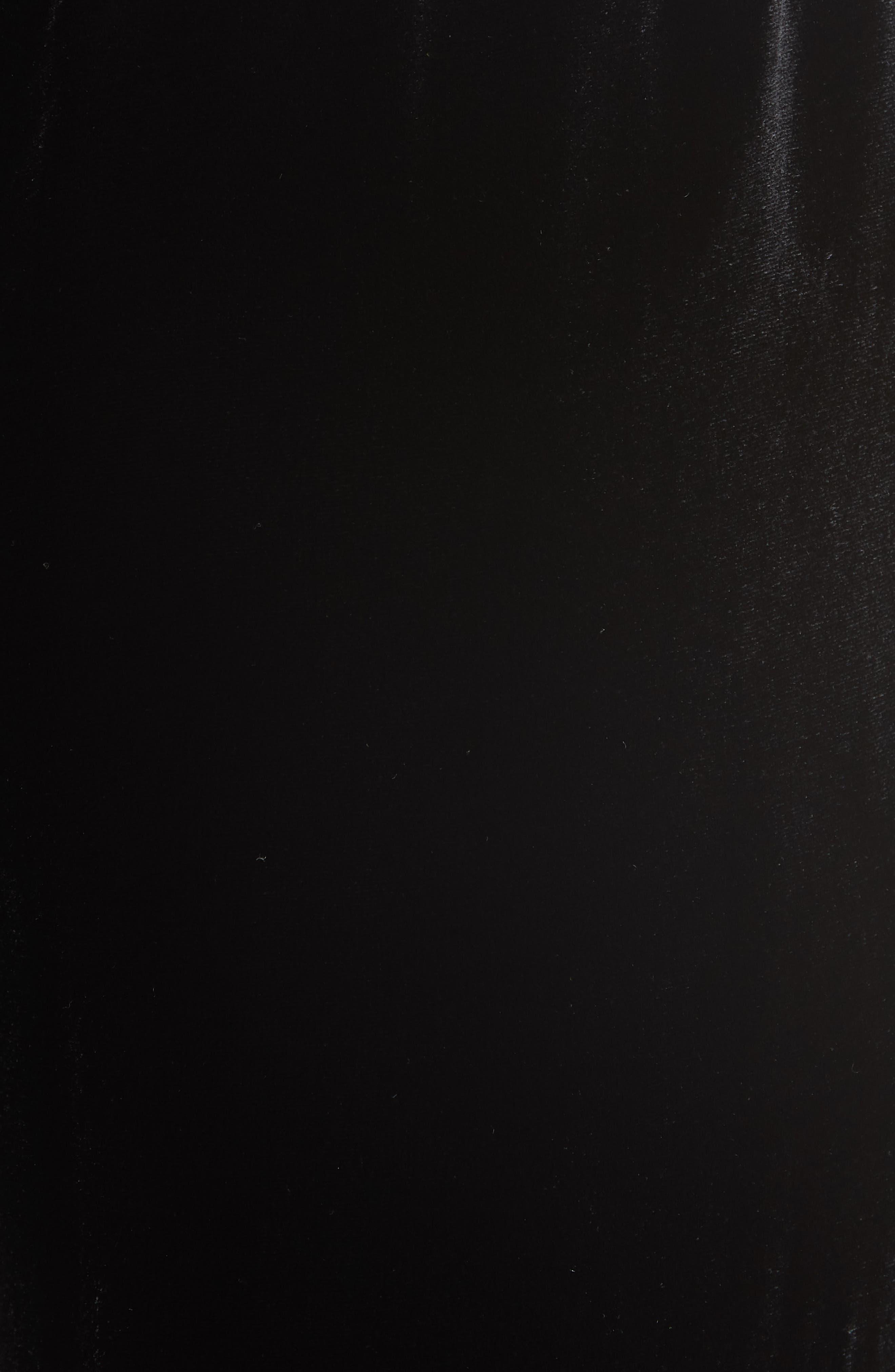 Velvet Track Pants,                             Alternate thumbnail 5, color,                             BLACK