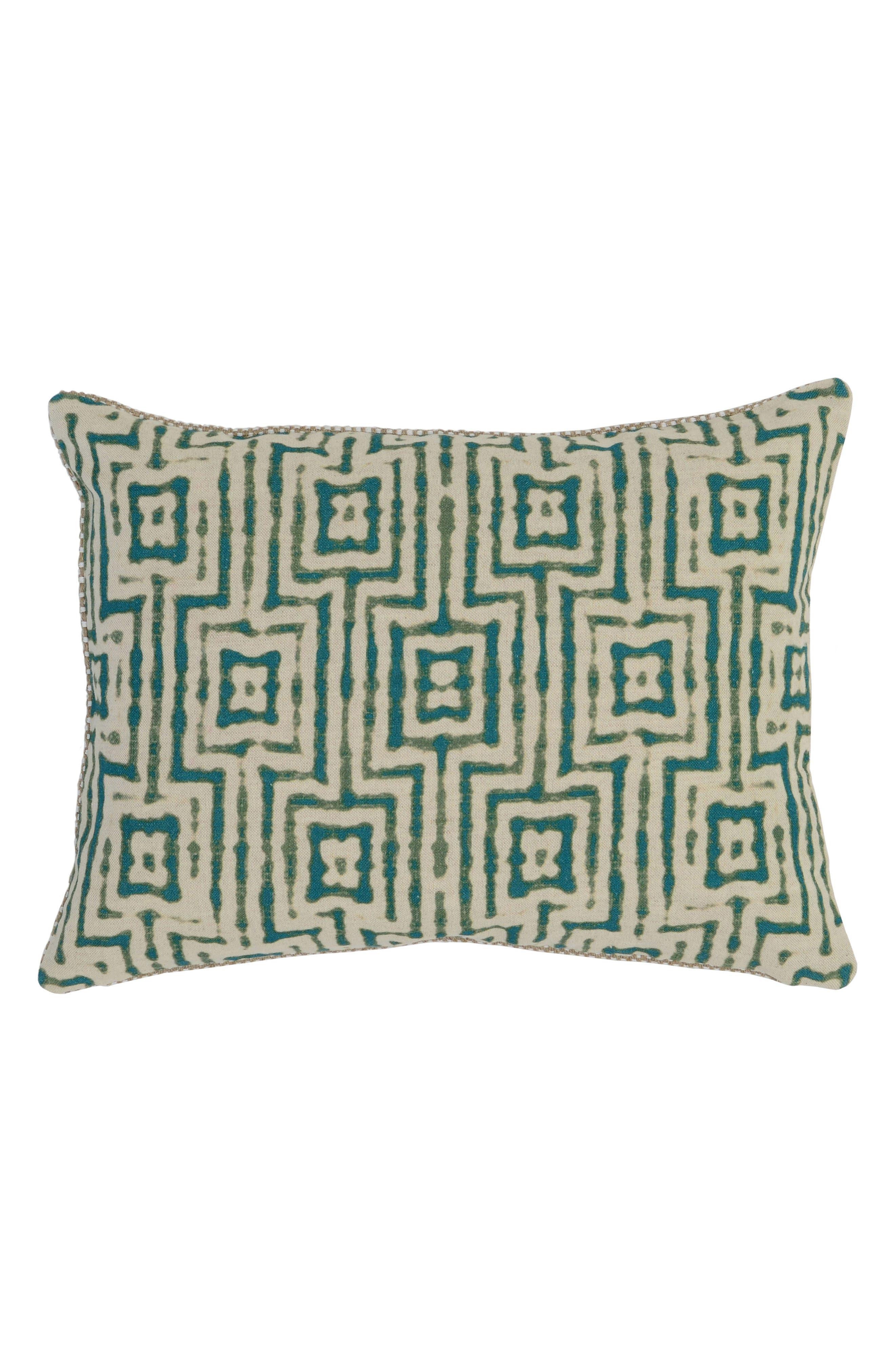 Paradise Surf Pillow,                             Main thumbnail 1, color,                             GREEN