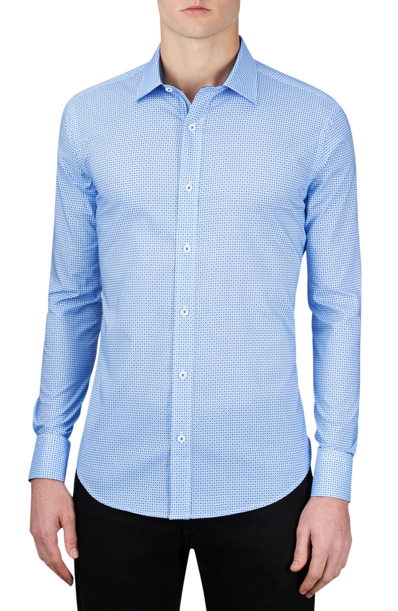Classic Fit Dot Print Sport Shirt,                         Main,                         color, 459