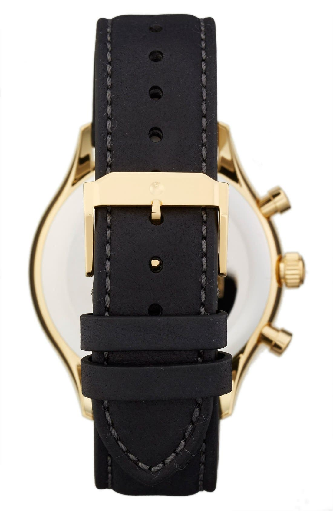 'Heritage' Chronograph Leather Strap Watch, 43mm,                             Alternate thumbnail 2, color,                             BLACK/ BLUE