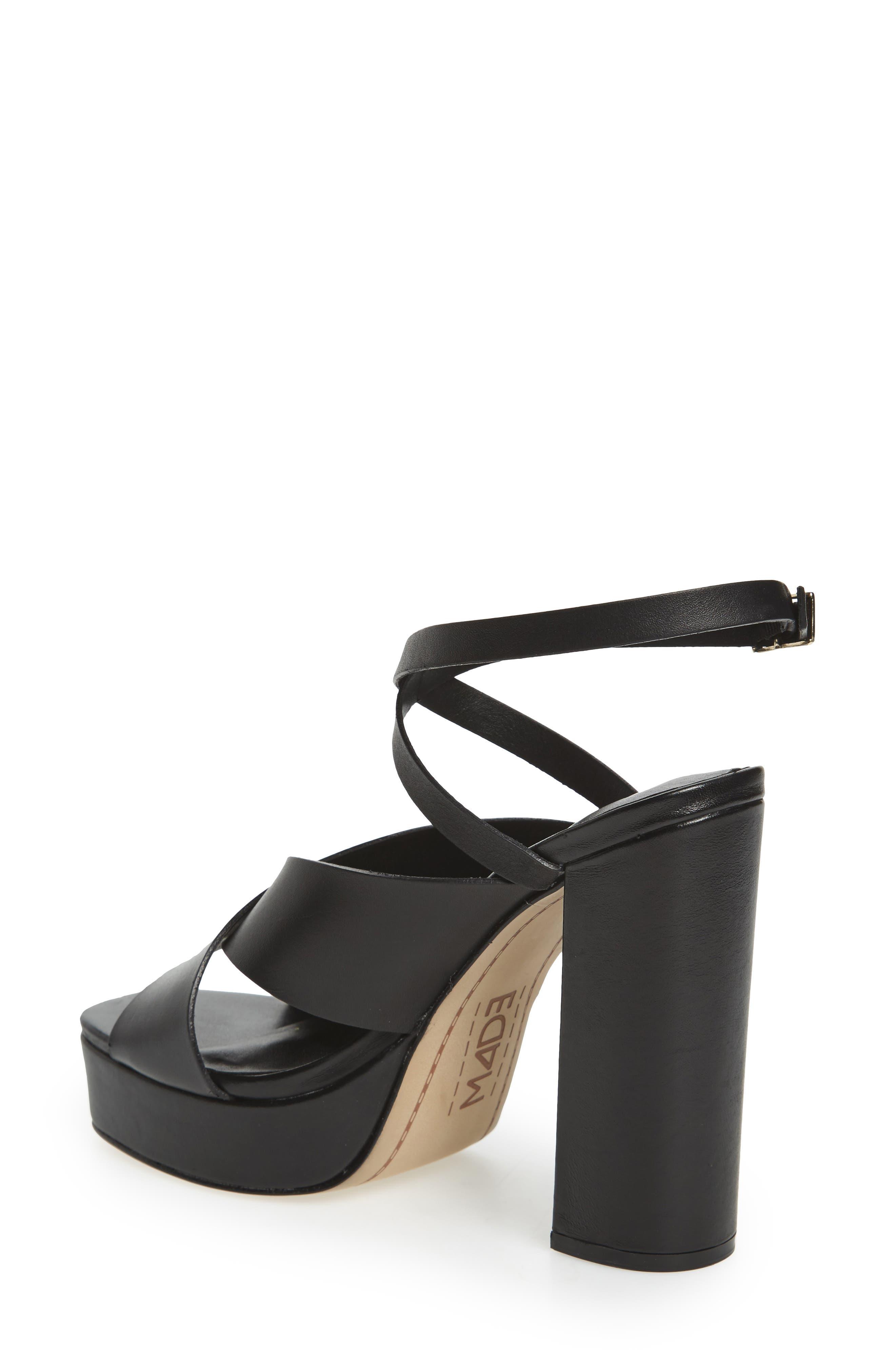 M4D3 Priscilla Wraparound Platform Sandal,                             Alternate thumbnail 2, color,                             BLACK