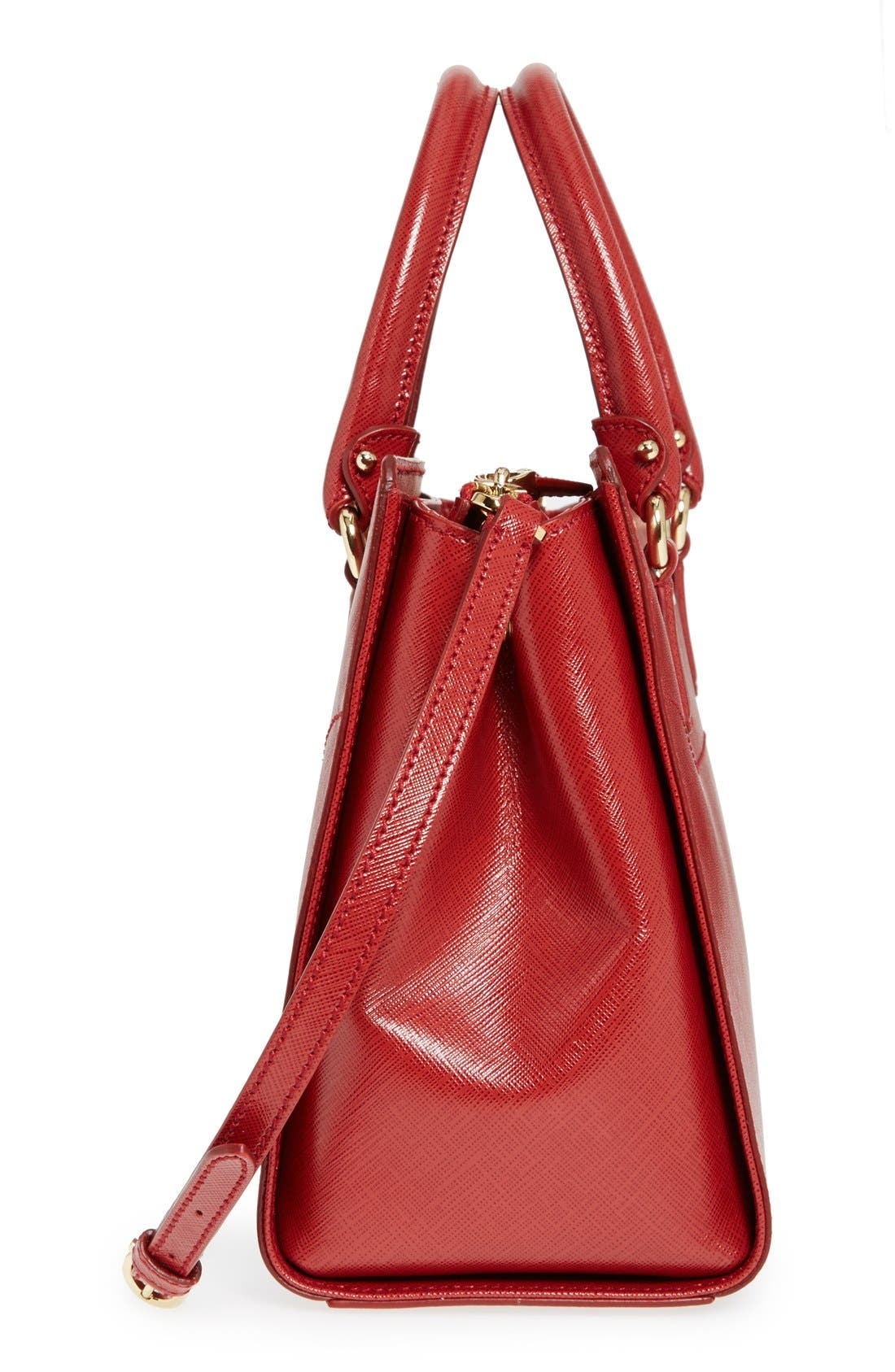 Small Saffiano Leather Tote,                             Alternate thumbnail 15, color,