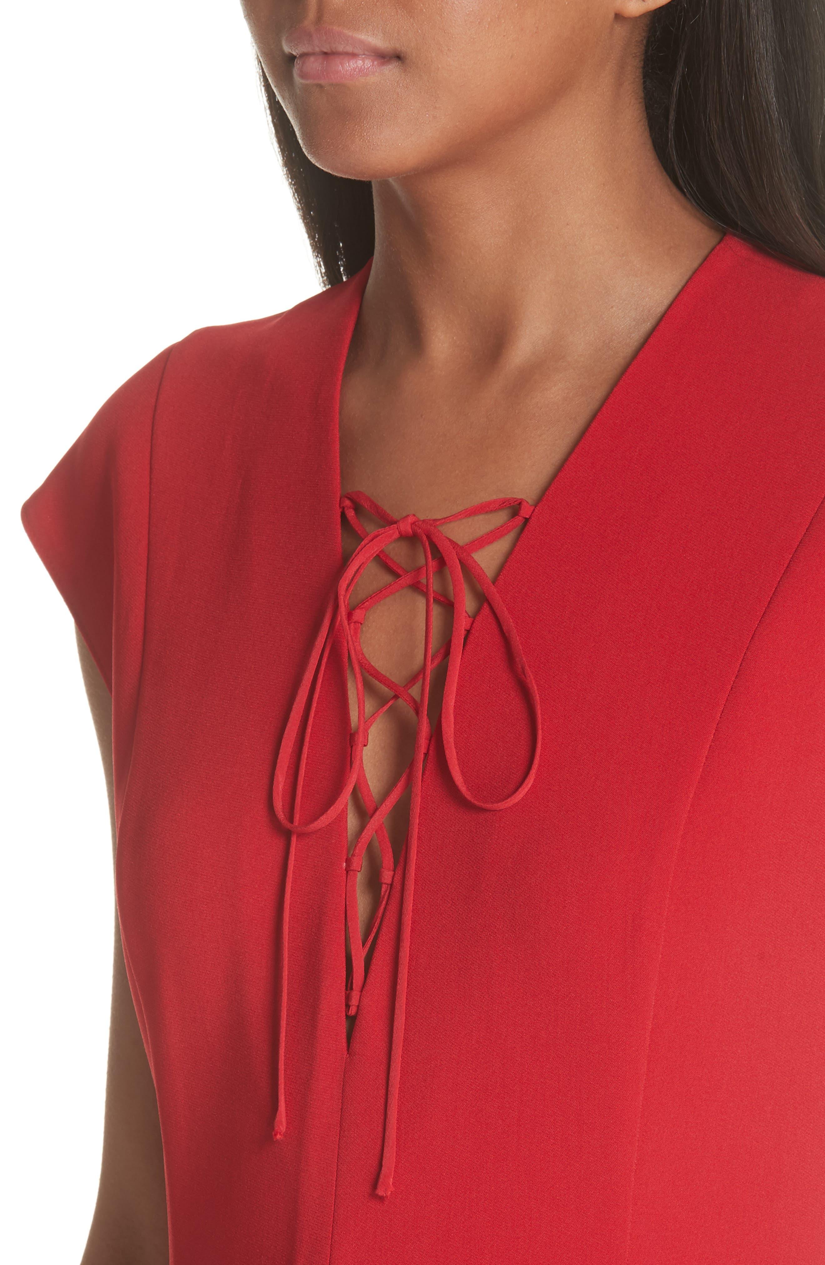 Lace-Up Dress,                             Alternate thumbnail 4, color,                             627