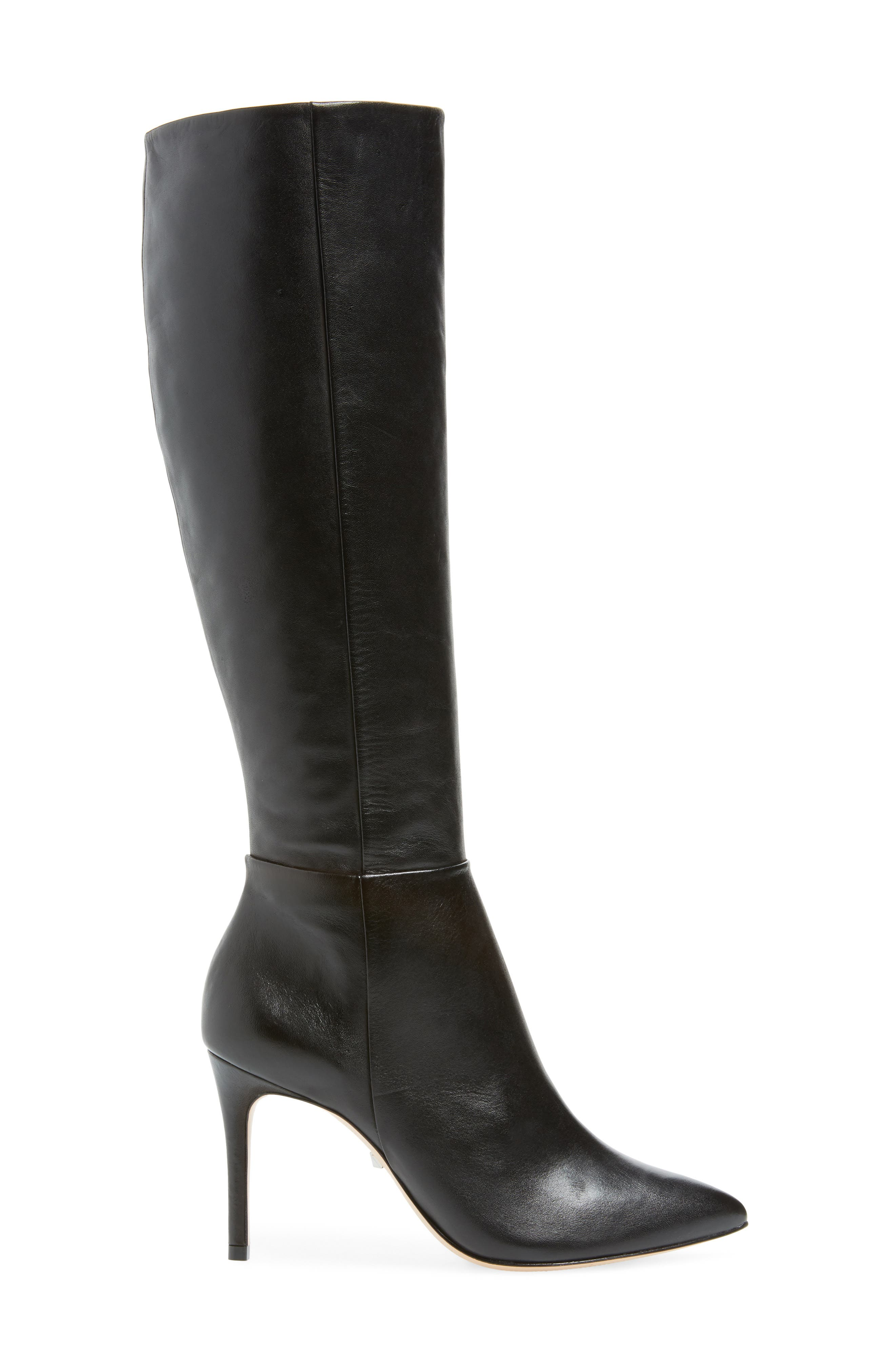 Magalli Knee High Boot,                             Alternate thumbnail 3, color,                             BLACK LEATHER