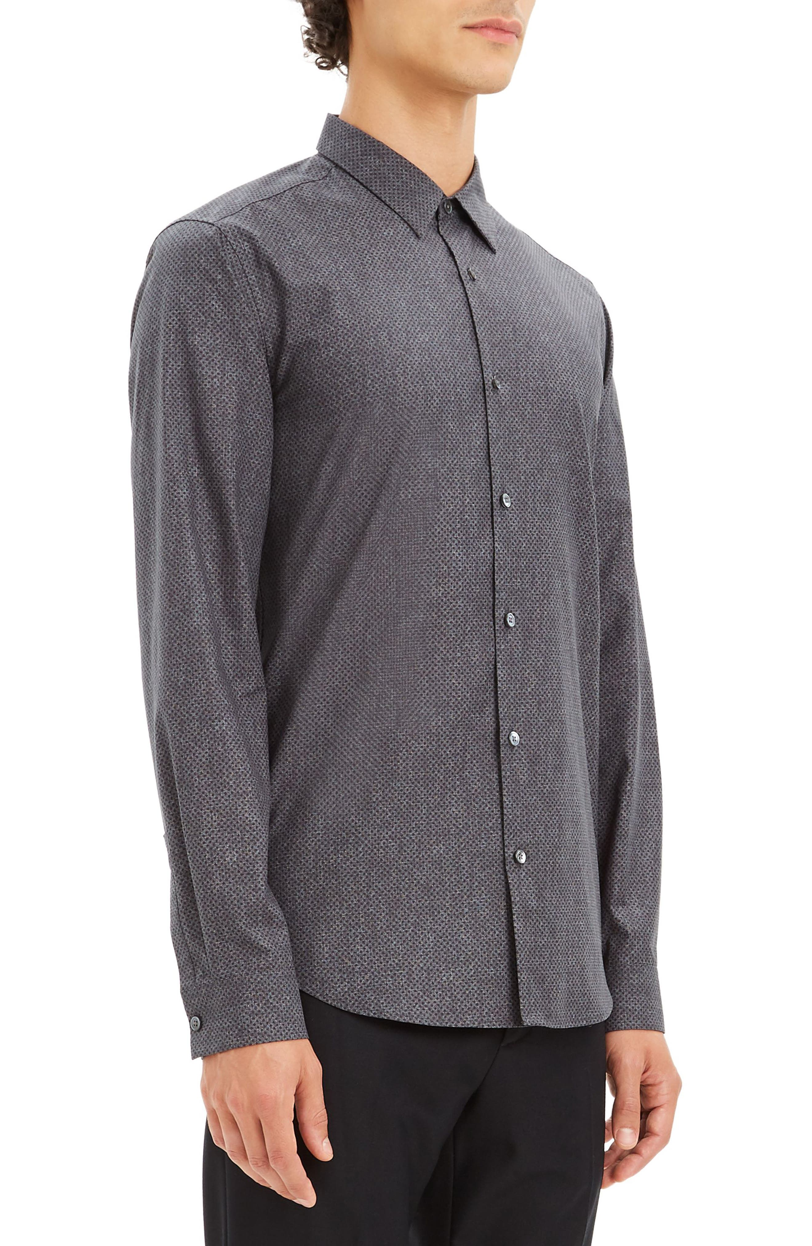 Irving Tone Regular Fit Dot Print Sport Shirt,                             Alternate thumbnail 3, color,                             096