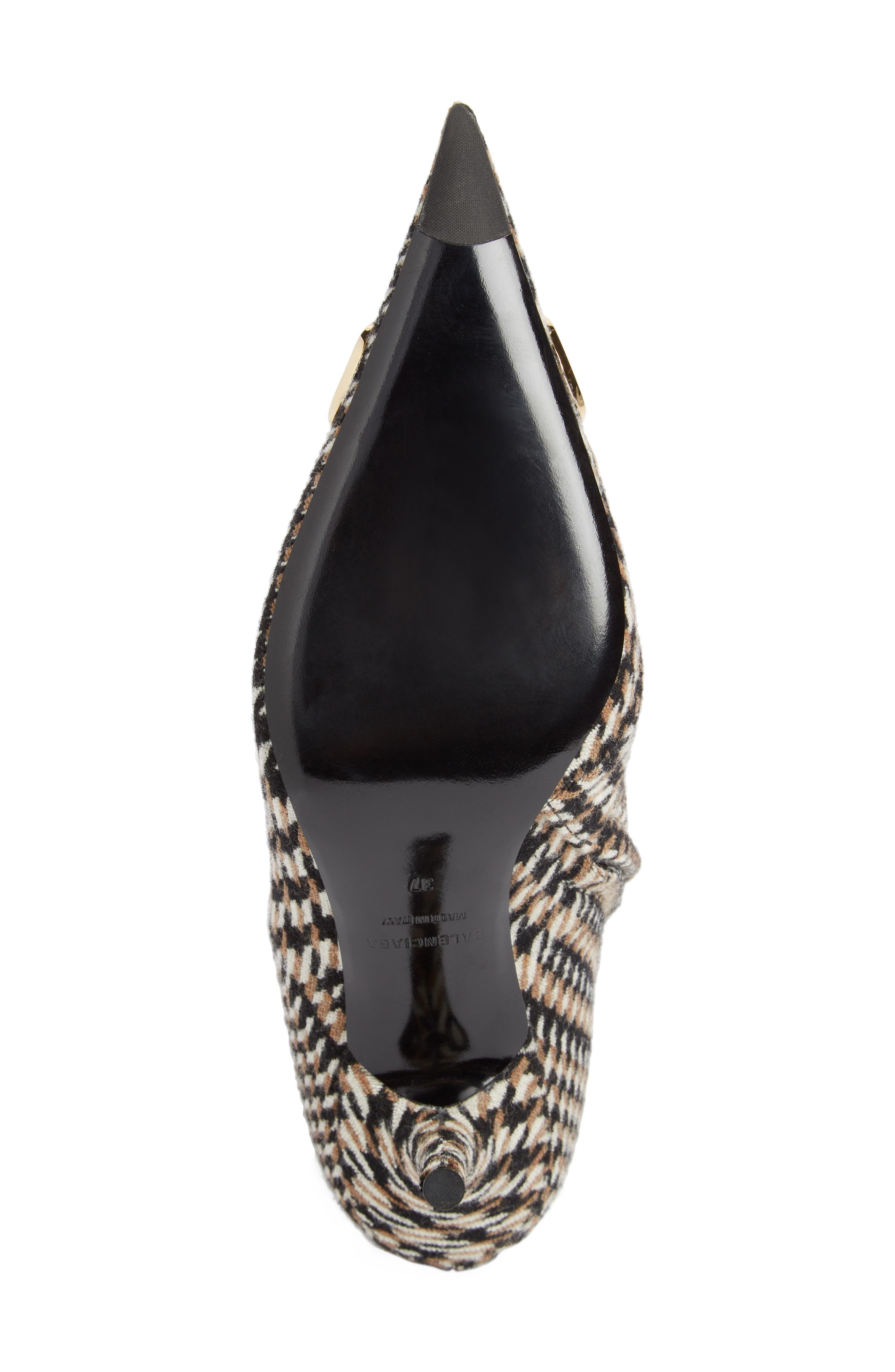 BB Pointy Toe Bootie,                             Alternate thumbnail 5, color,                             BLACK/ WHITE/ CAMEL