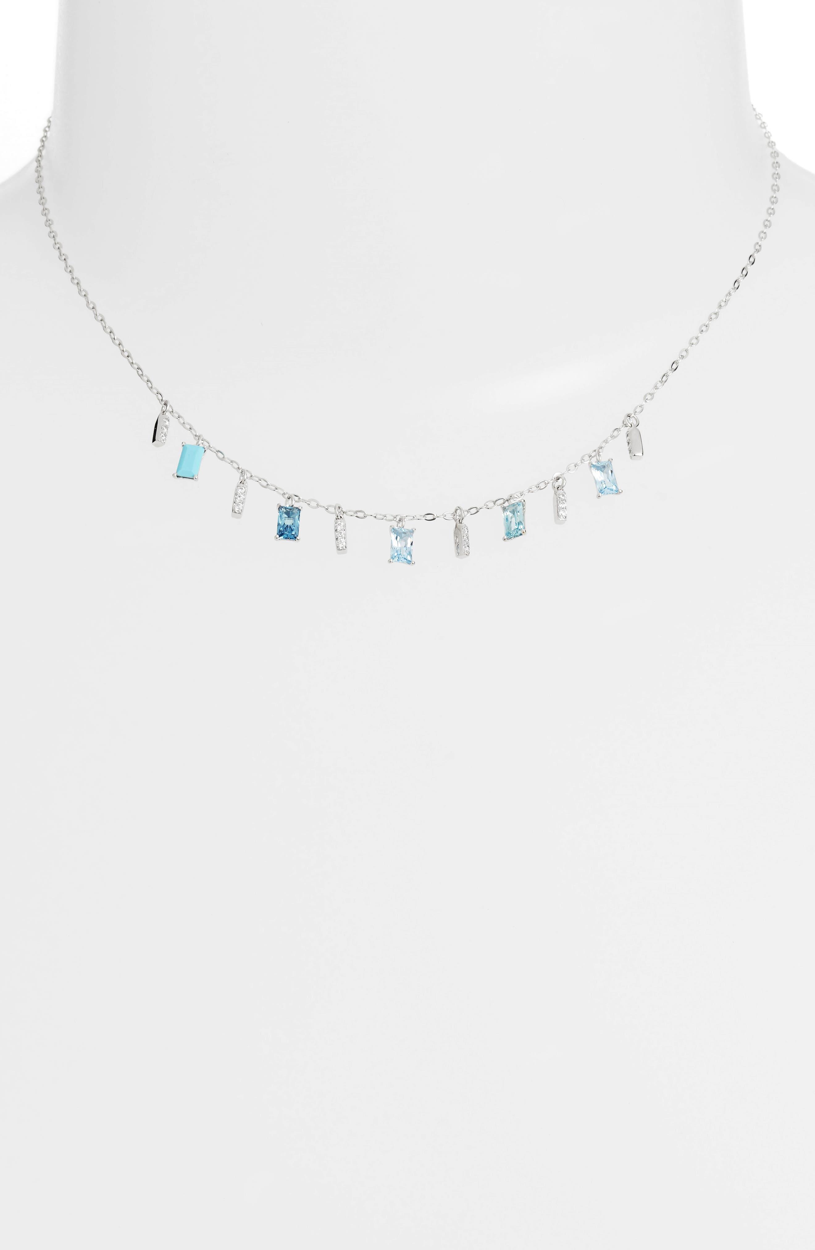 Crystal Drop Frontal Necklace,                         Main,                         color,