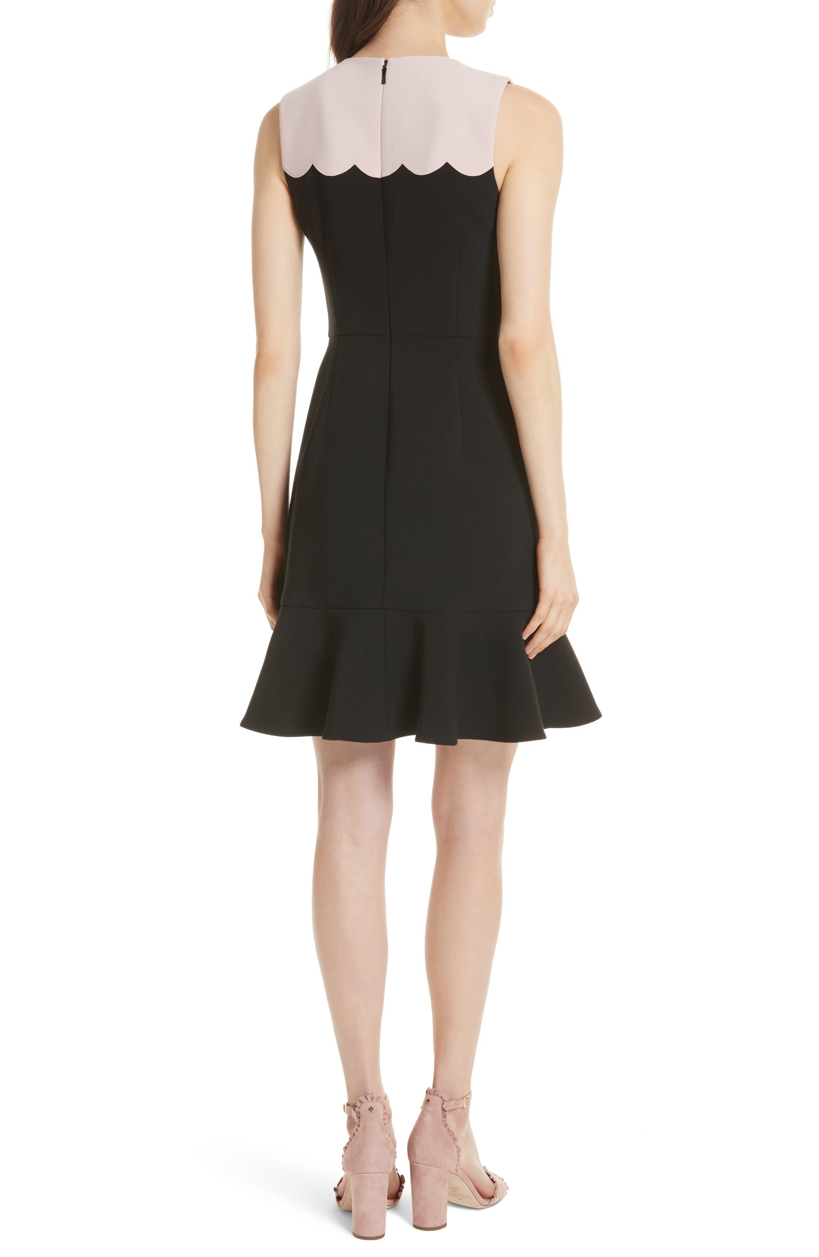 scallop sleeveless dress,                             Alternate thumbnail 2, color,                             663
