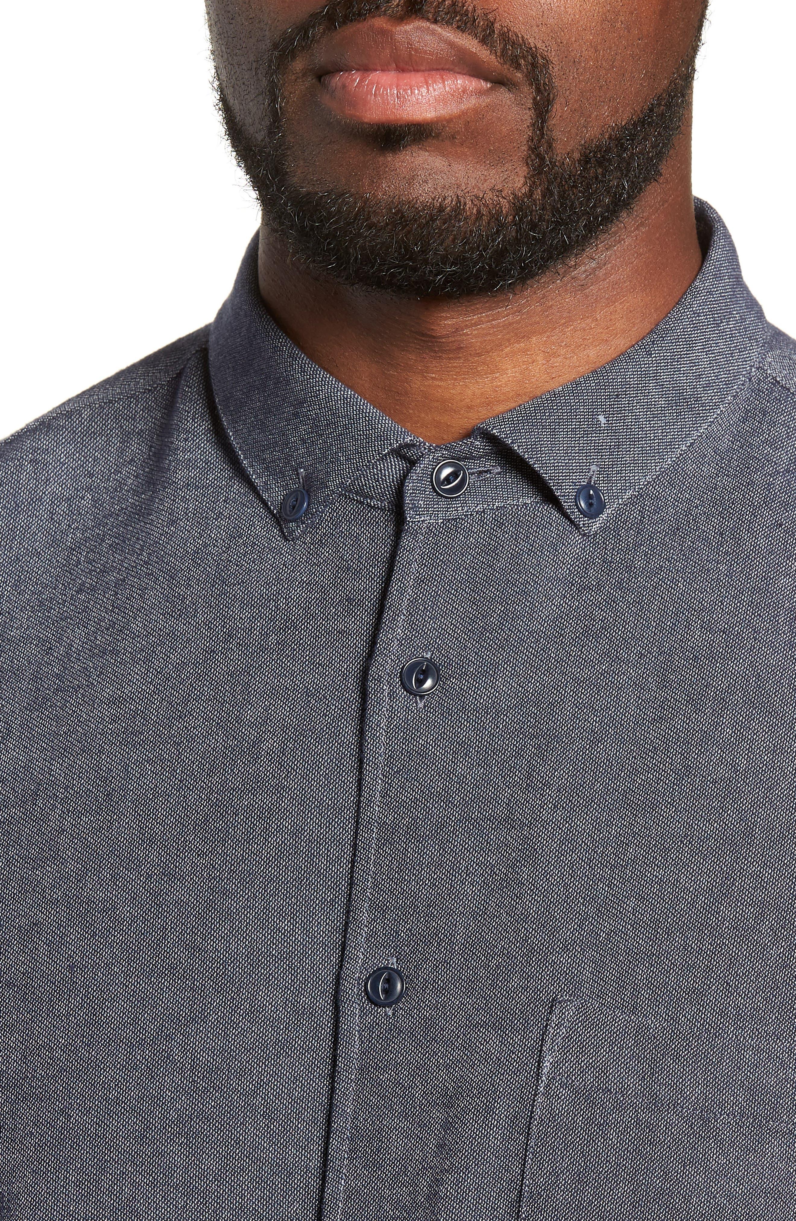 Dean Regular Fit Chambray Shirt,                             Alternate thumbnail 2, color,                             NAVY