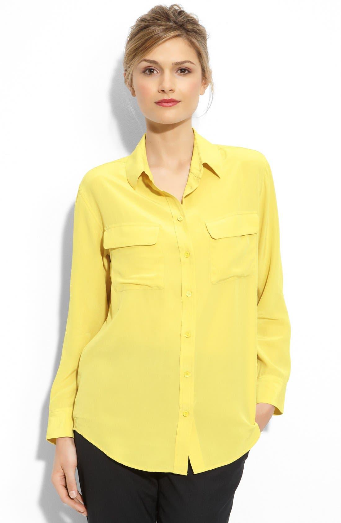 'Signature' Silk Shirt,                         Main,                         color, 261