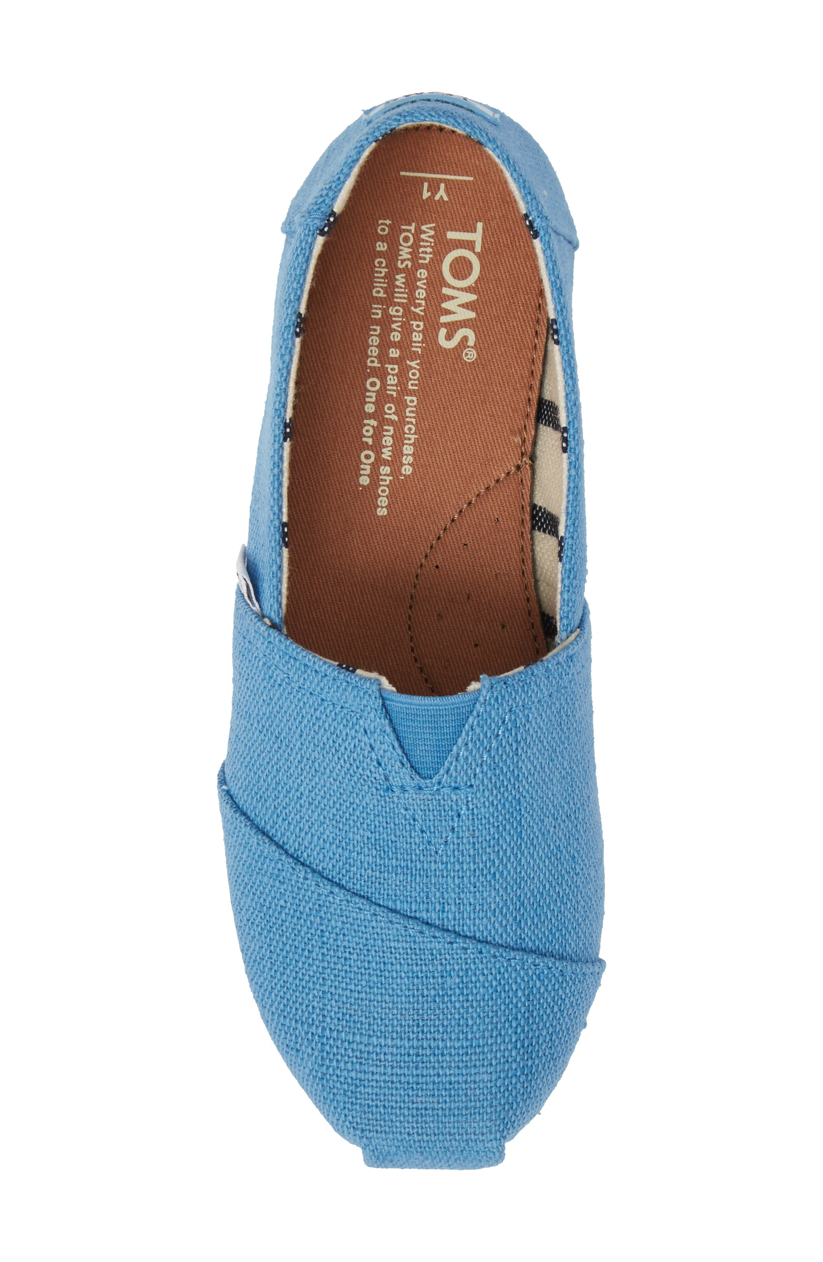 Classic Print Slip-On,                             Alternate thumbnail 5, color,                             CLEAR SKY HERITAGE CANVAS