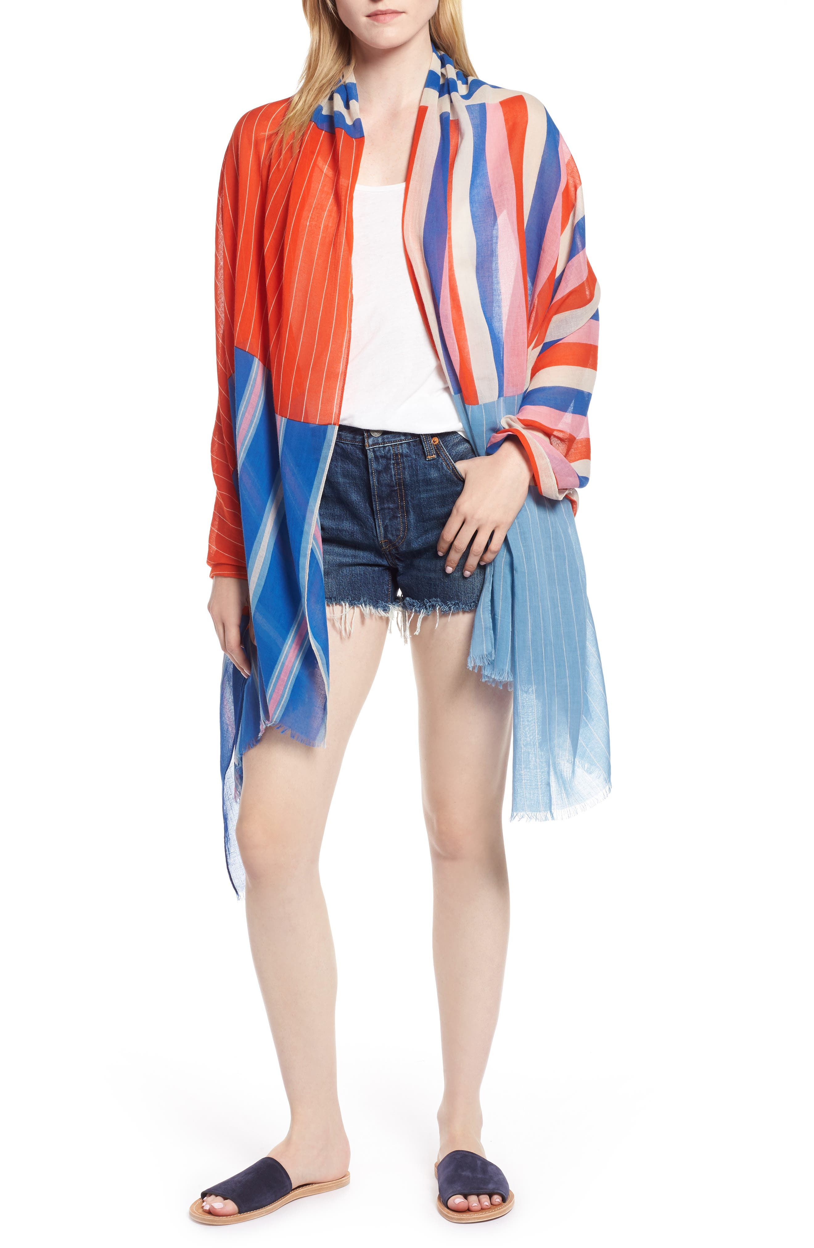 Stripe Sarong,                             Main thumbnail 1, color,                             900