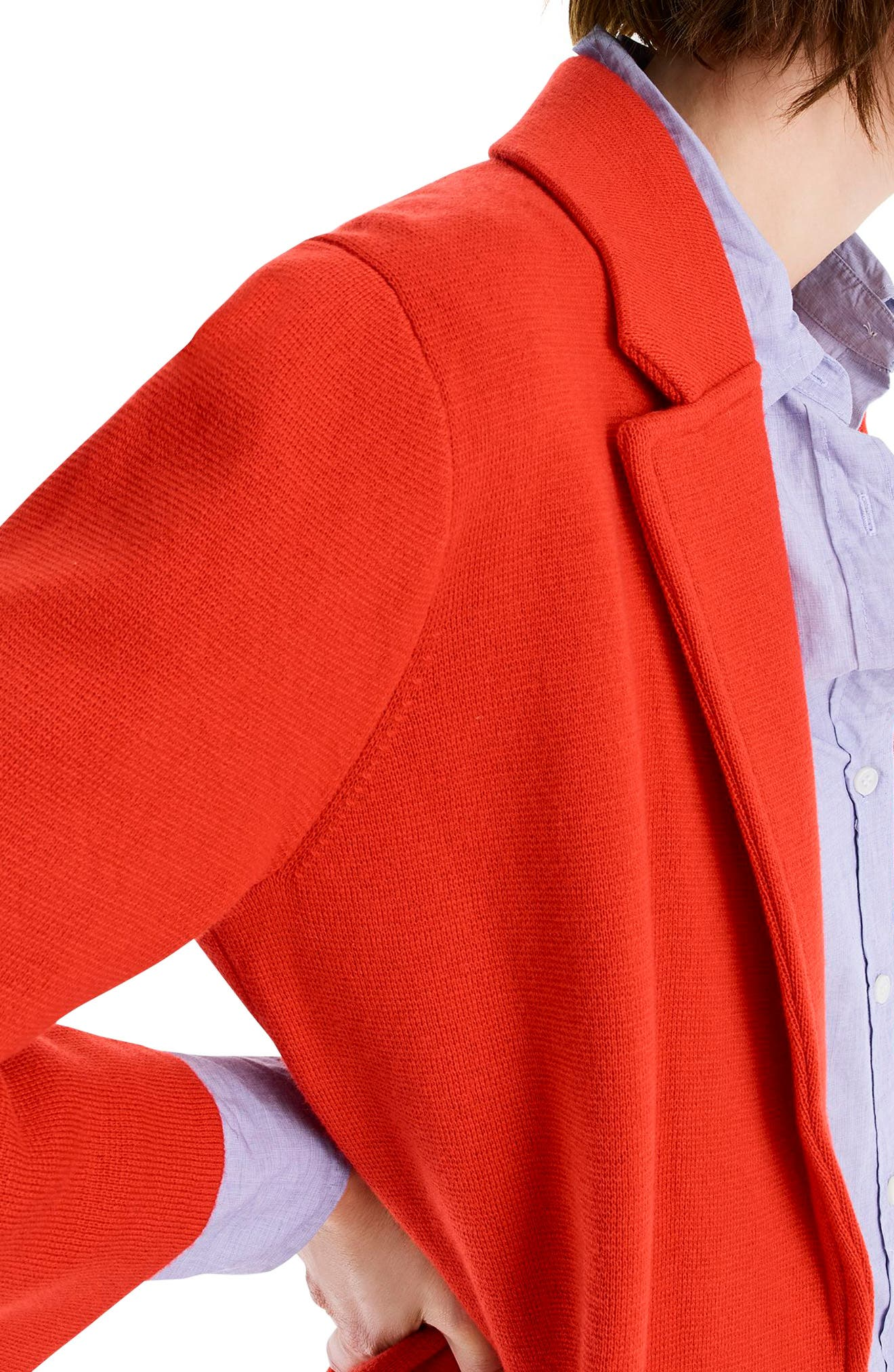 New Lightweight Sweater Blazer,                             Alternate thumbnail 4, color,                             BRIGHT CERISE