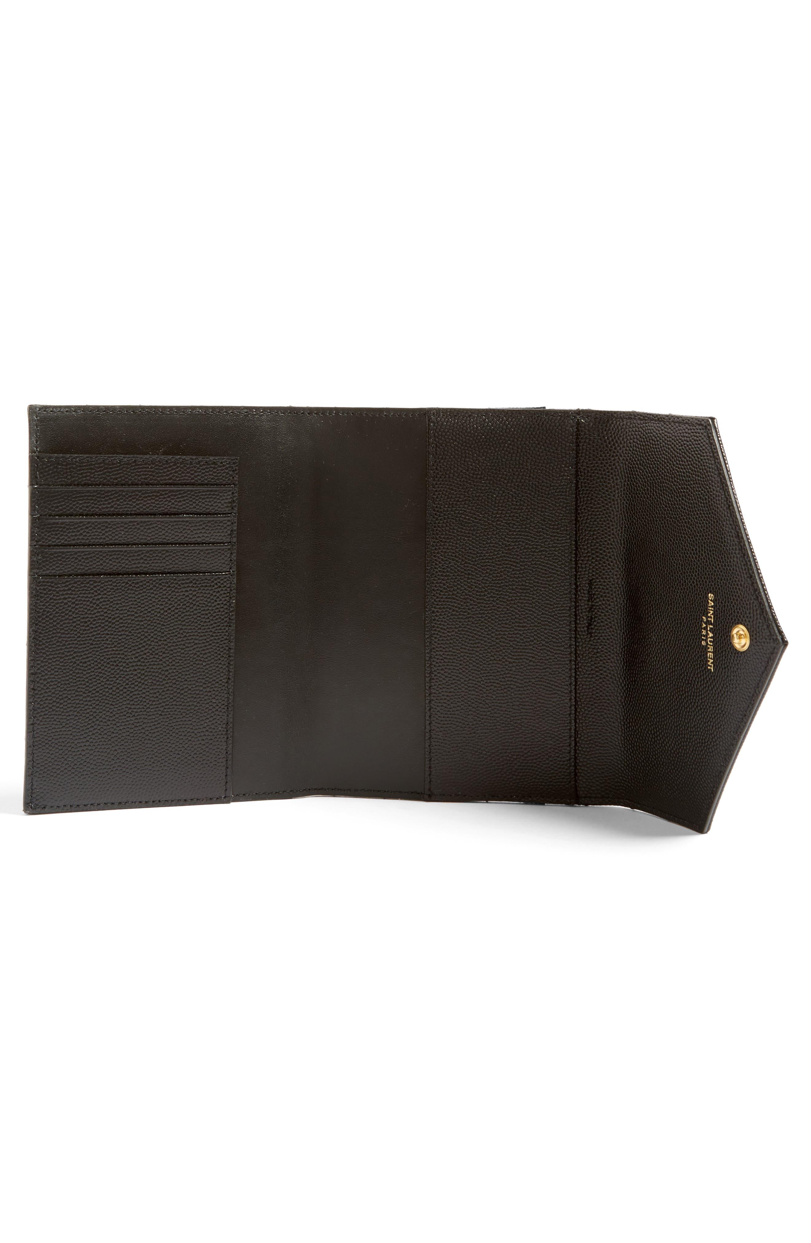 Monogram Leather Passport Case,                             Alternate thumbnail 2, color,                             001