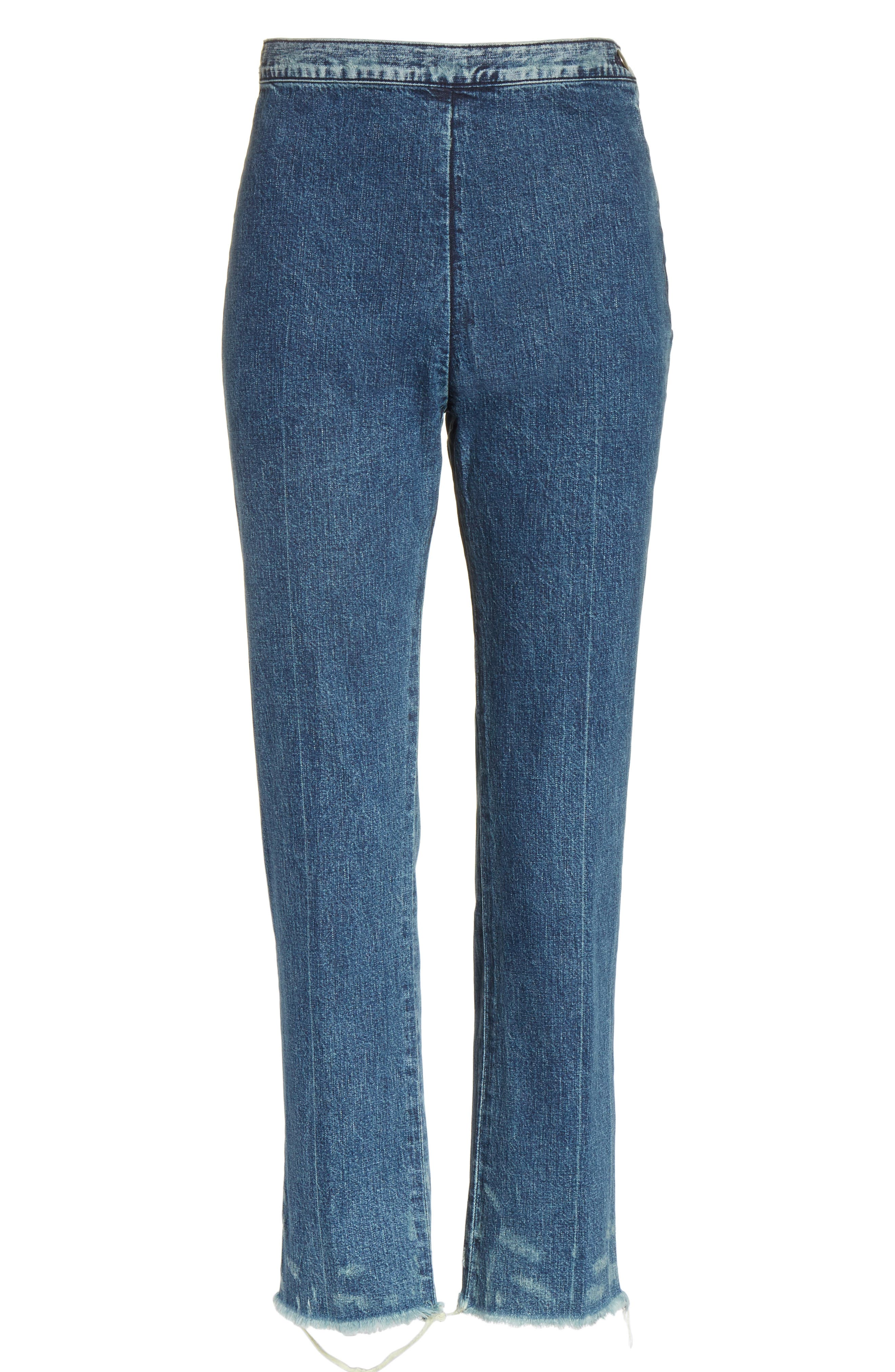 Fletcher Slim Straight Cropped Jeans,                             Alternate thumbnail 6, color,                             420