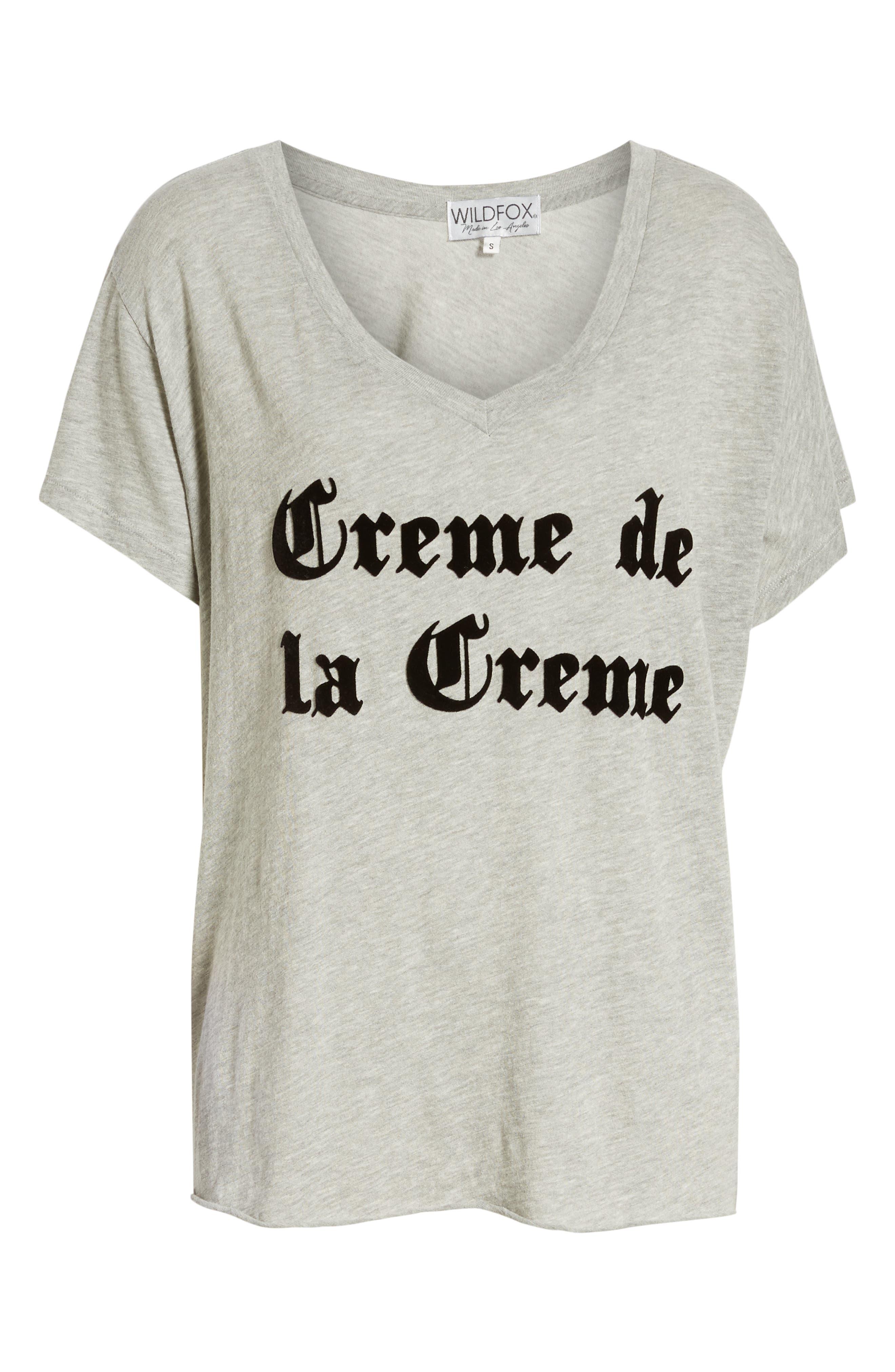 Creme de la Creme Romeo Tee,                             Alternate thumbnail 6, color,                             HEATHER JERSEY