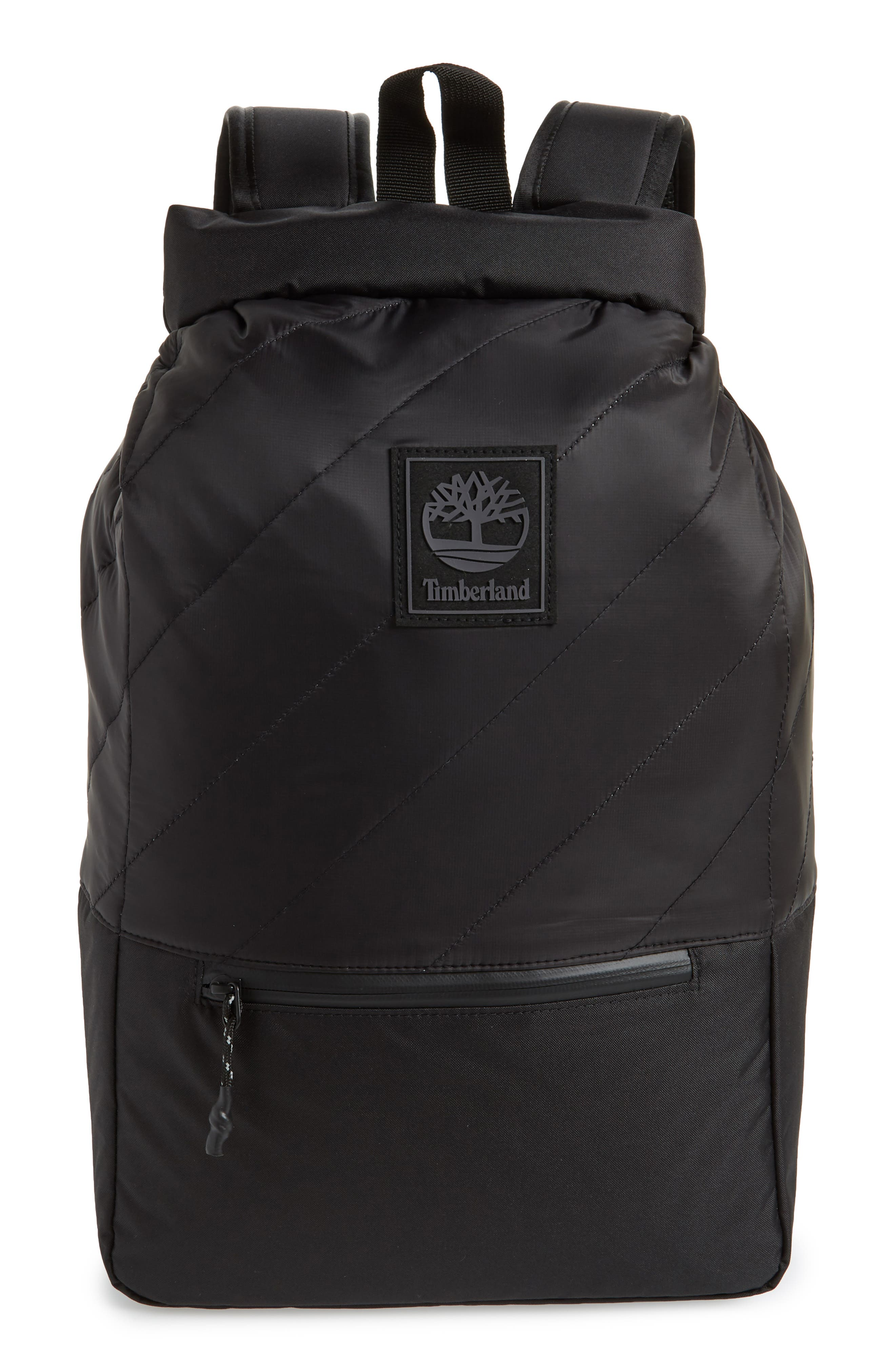 Timberland Roll Top Backpack - Black