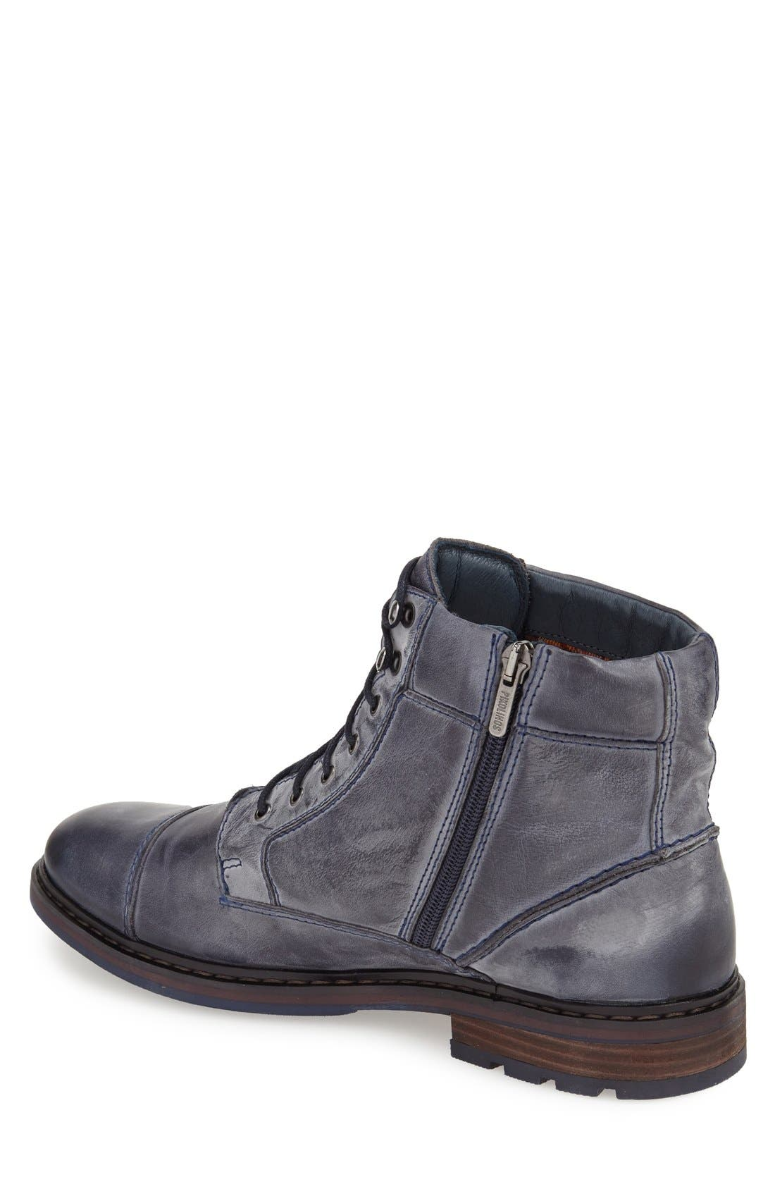 'Cacers' Lace-Up Zip Boot,                             Alternate thumbnail 6, color,
