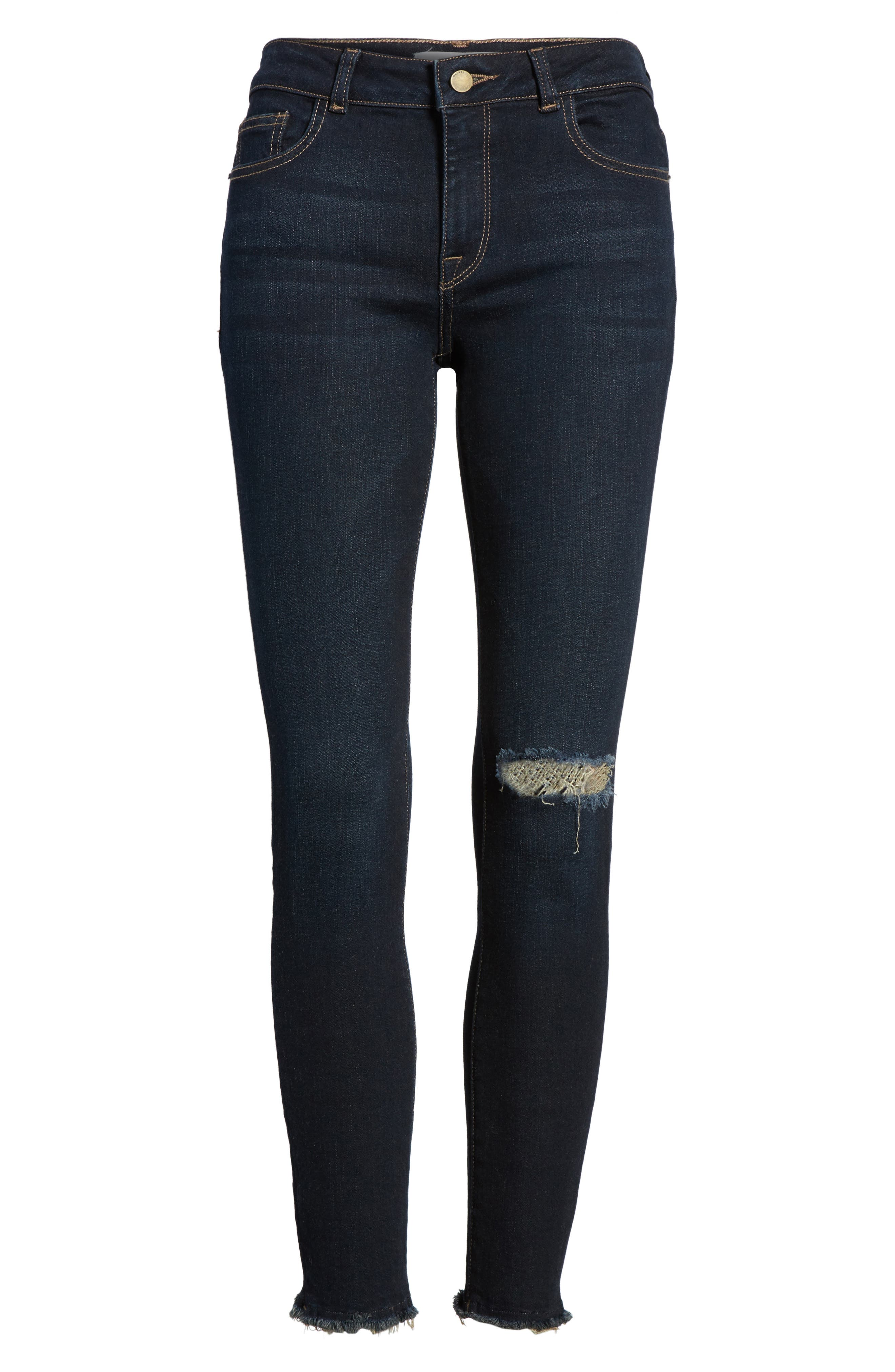 Margaux Instasculpt Ripped Ankle Skinny Jeans,                             Alternate thumbnail 6, color,                             025