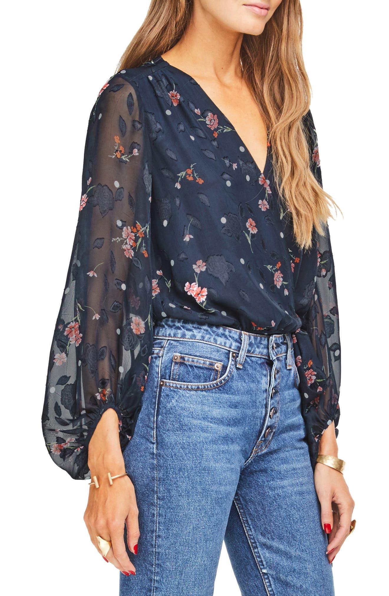 Jill Tie Front Bodysuit,                             Alternate thumbnail 4, color,                             400
