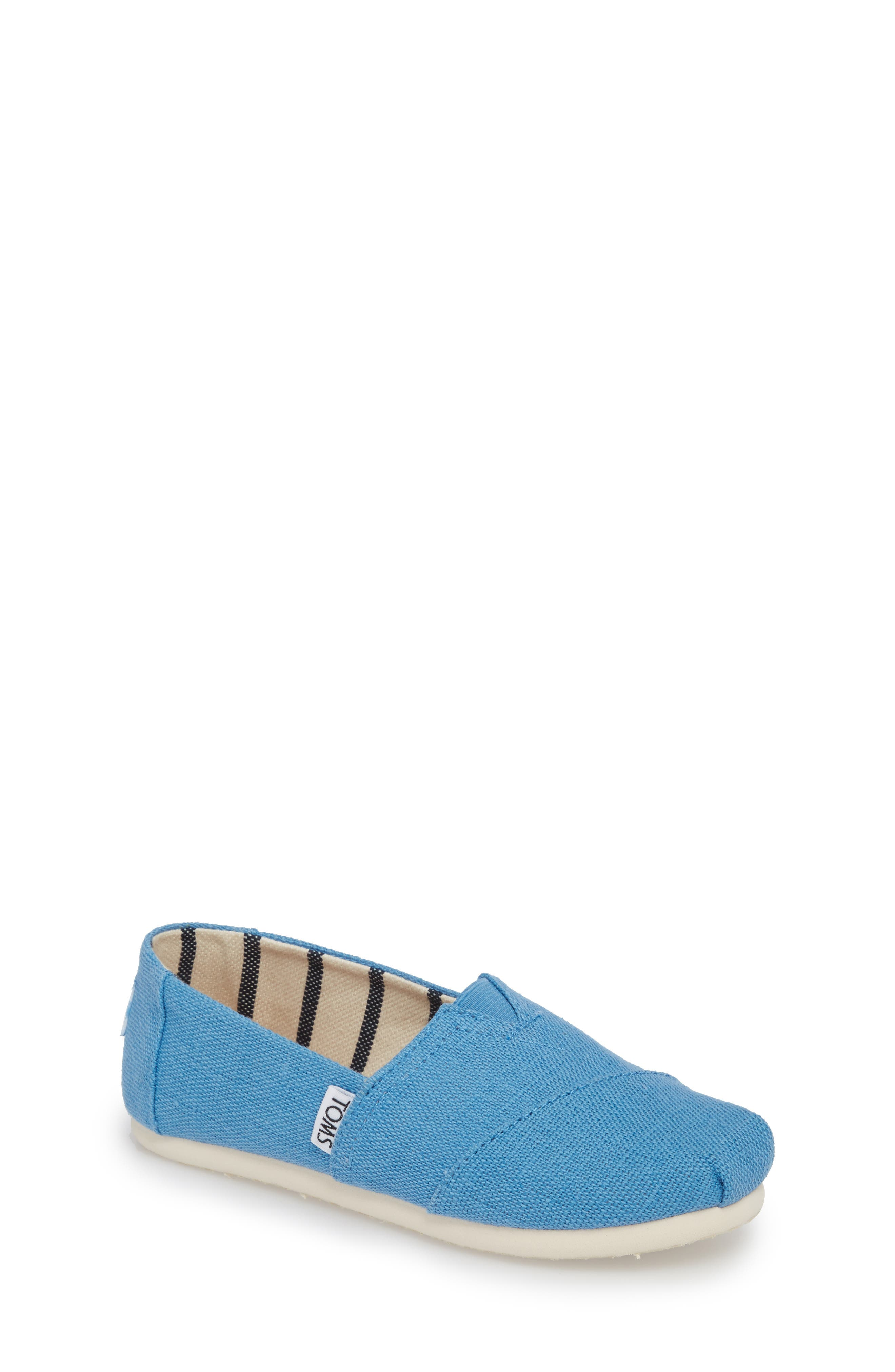 Classic Print Slip-On,                             Main thumbnail 1, color,                             CLEAR SKY HERITAGE CANVAS