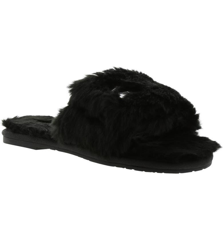 1b000ec529b9 MICHAEL Michael Kors Flurry Elina Faux Fur Slide Sandal (Toddler ...