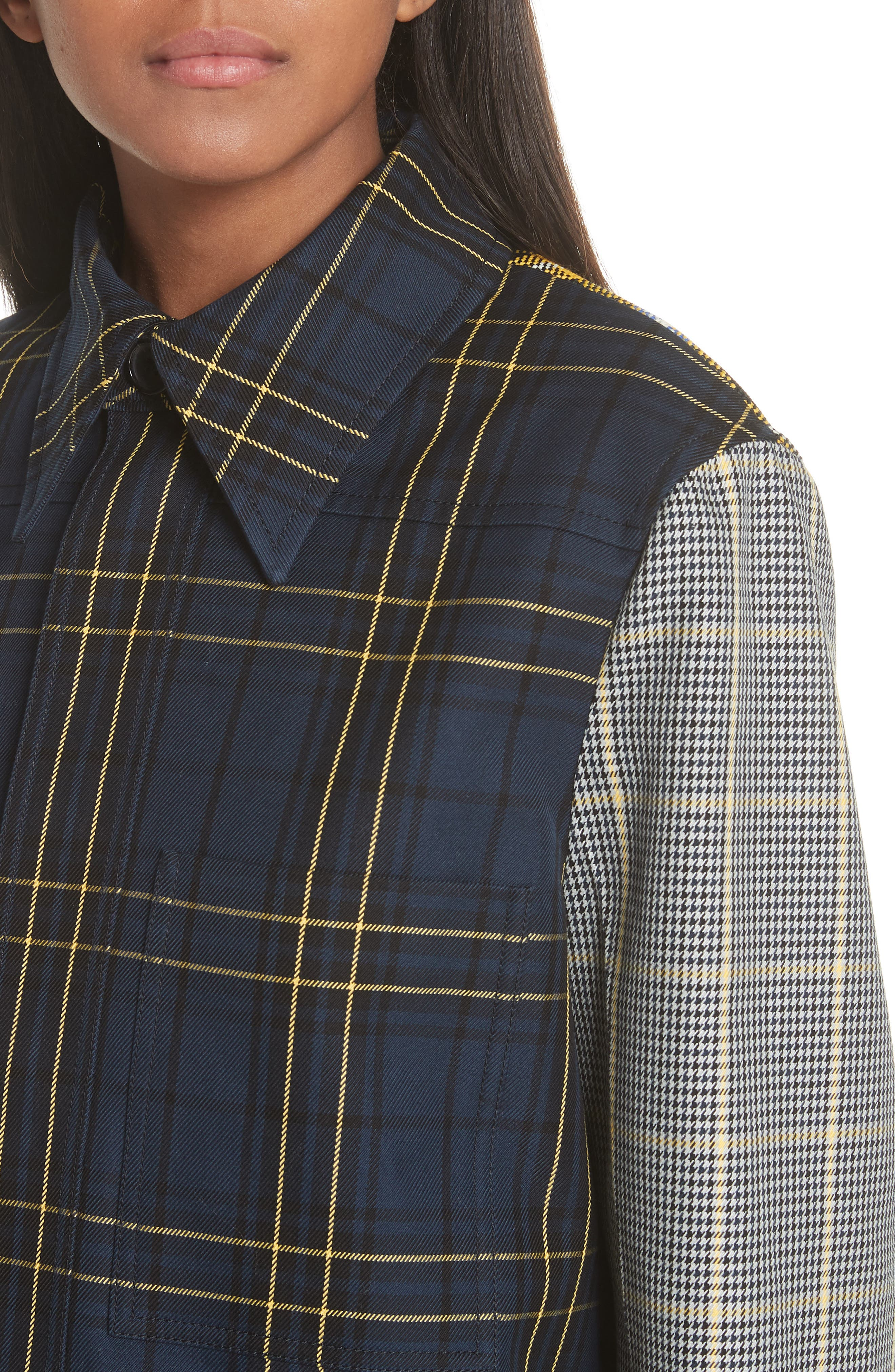 Coen Check Patchwork Jacket,                             Alternate thumbnail 4, color,