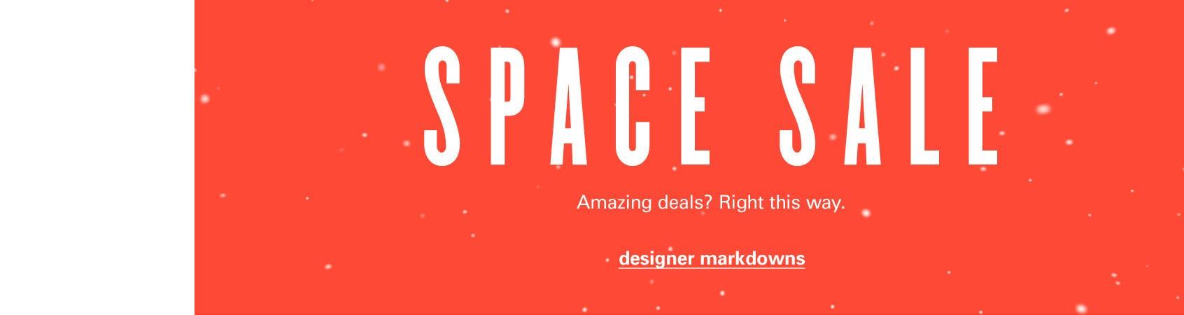 SPACE sale: designer markdowns.