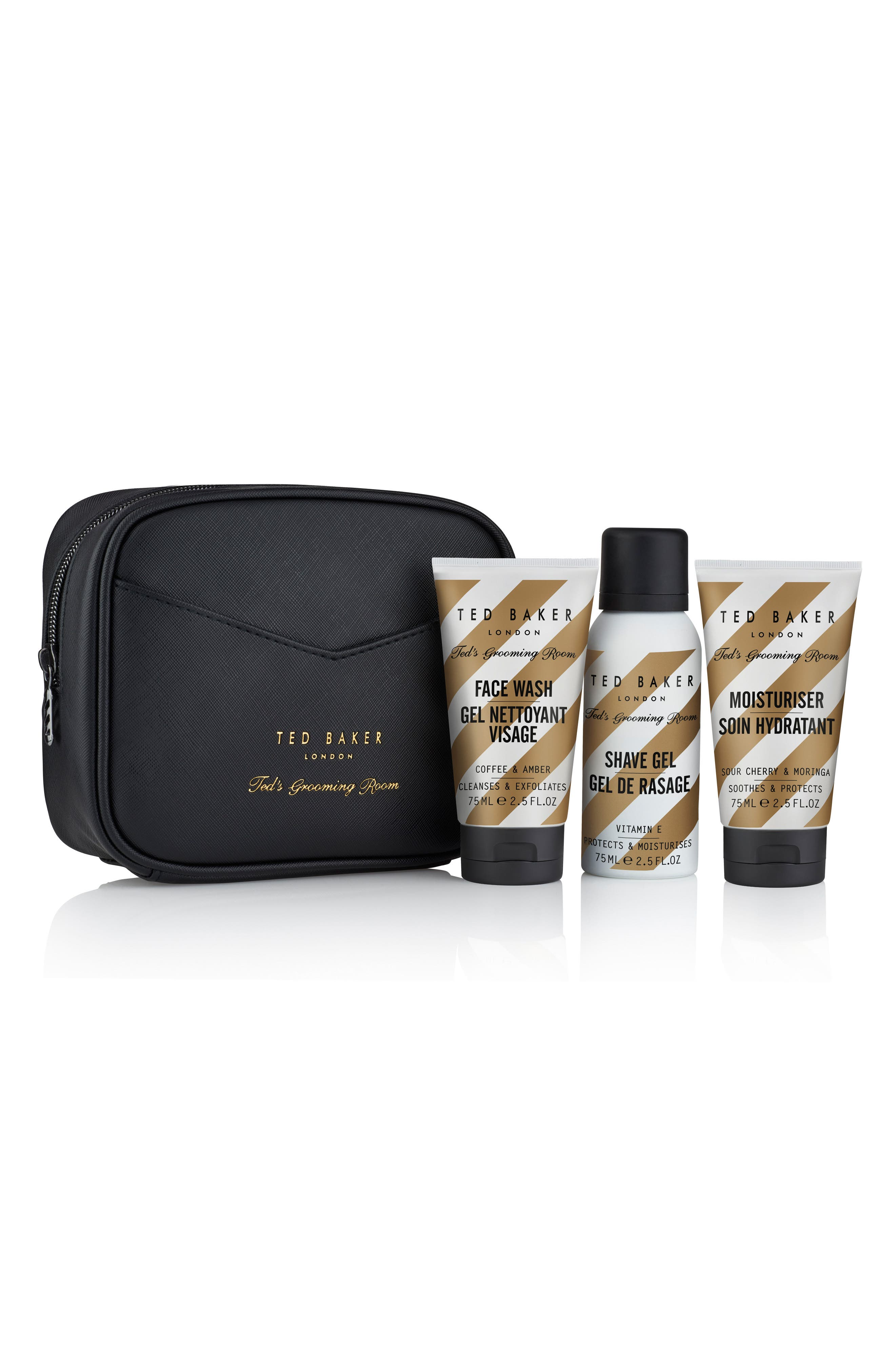 Ted's Grooming Room Travel Trio,                             Main thumbnail 1, color,                             000