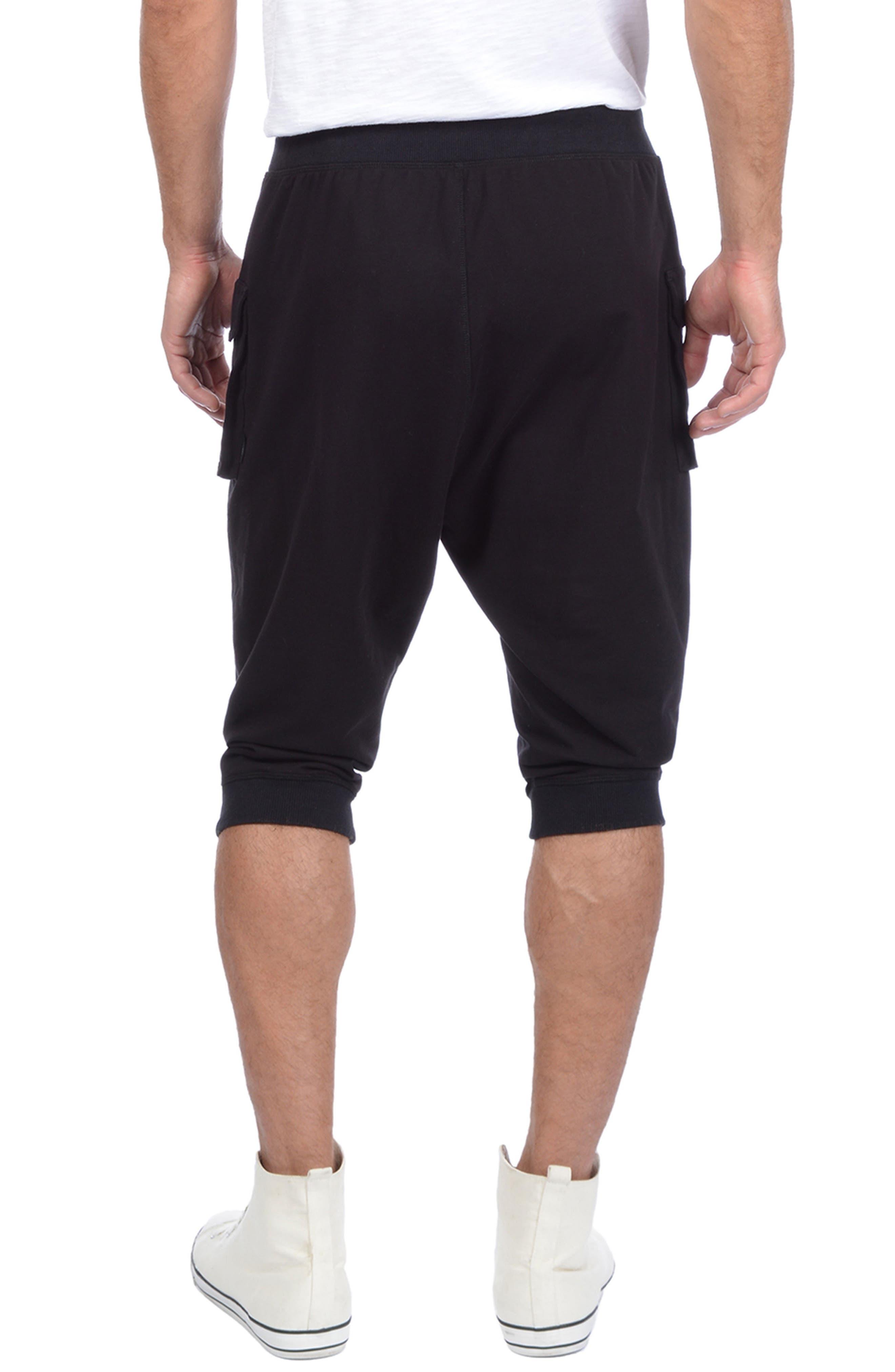 Crop Cargo Pants,                             Alternate thumbnail 2, color,                             BLACK