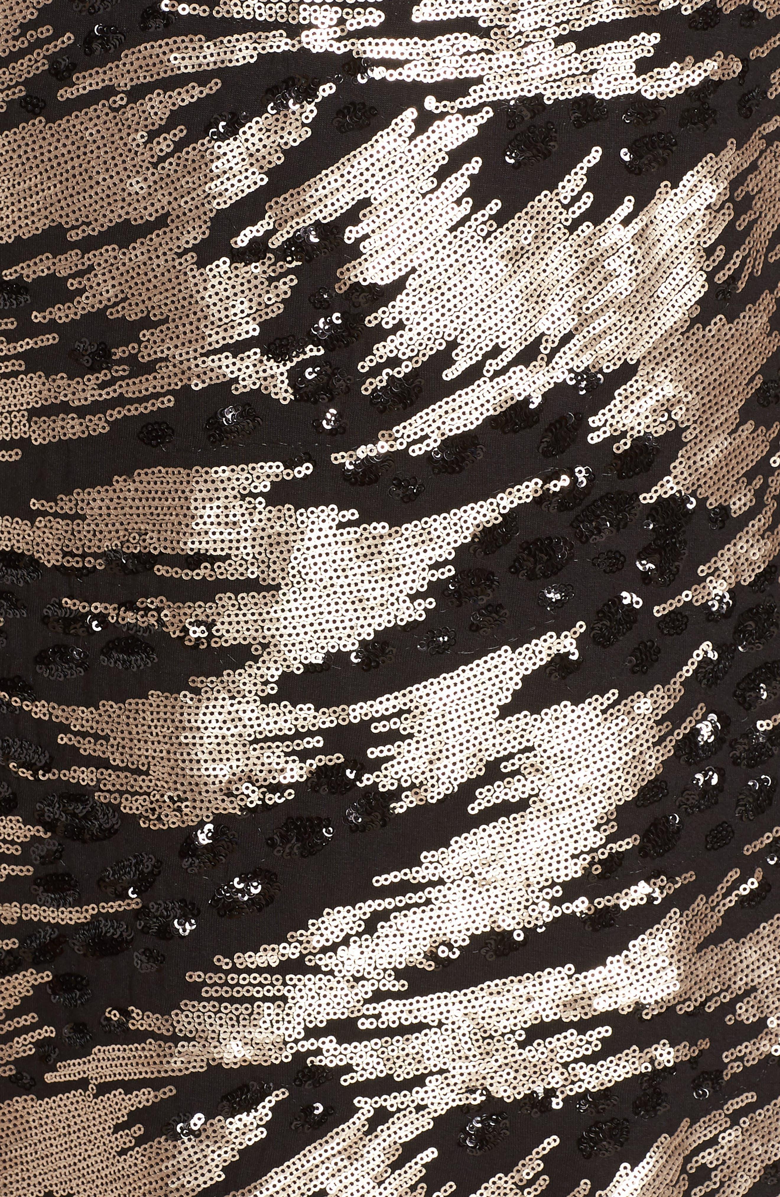 ELIZA J,                             Sequin Sheath Dress,                             Alternate thumbnail 6, color,                             002
