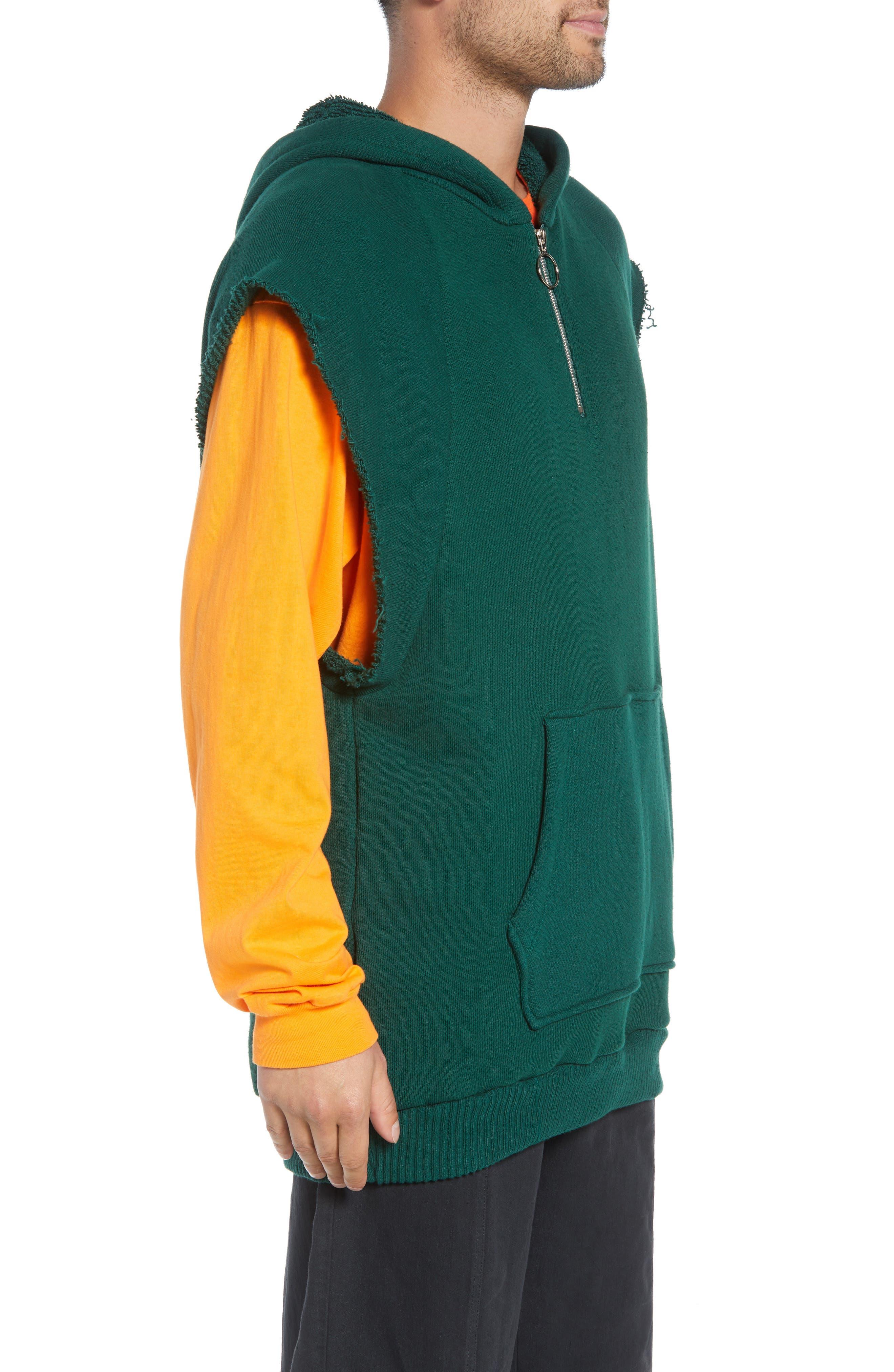 Warwick Quarter-Zip Hoodie Sweatshirt,                             Alternate thumbnail 3, color,                             HUNTER GREEN