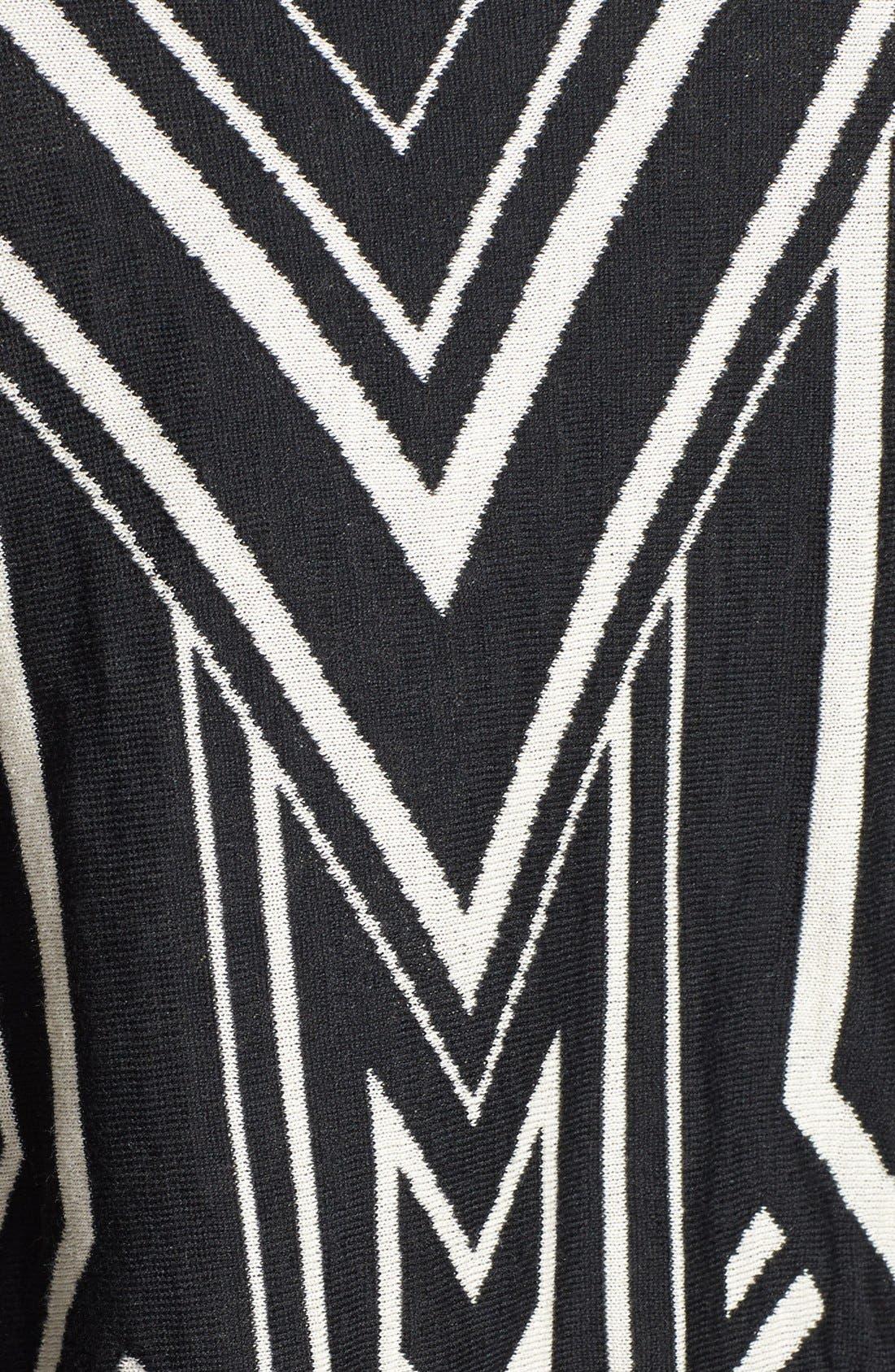JEALOUS TOMATO,                             Knit Poncho Sweater,                             Alternate thumbnail 2, color,                             001