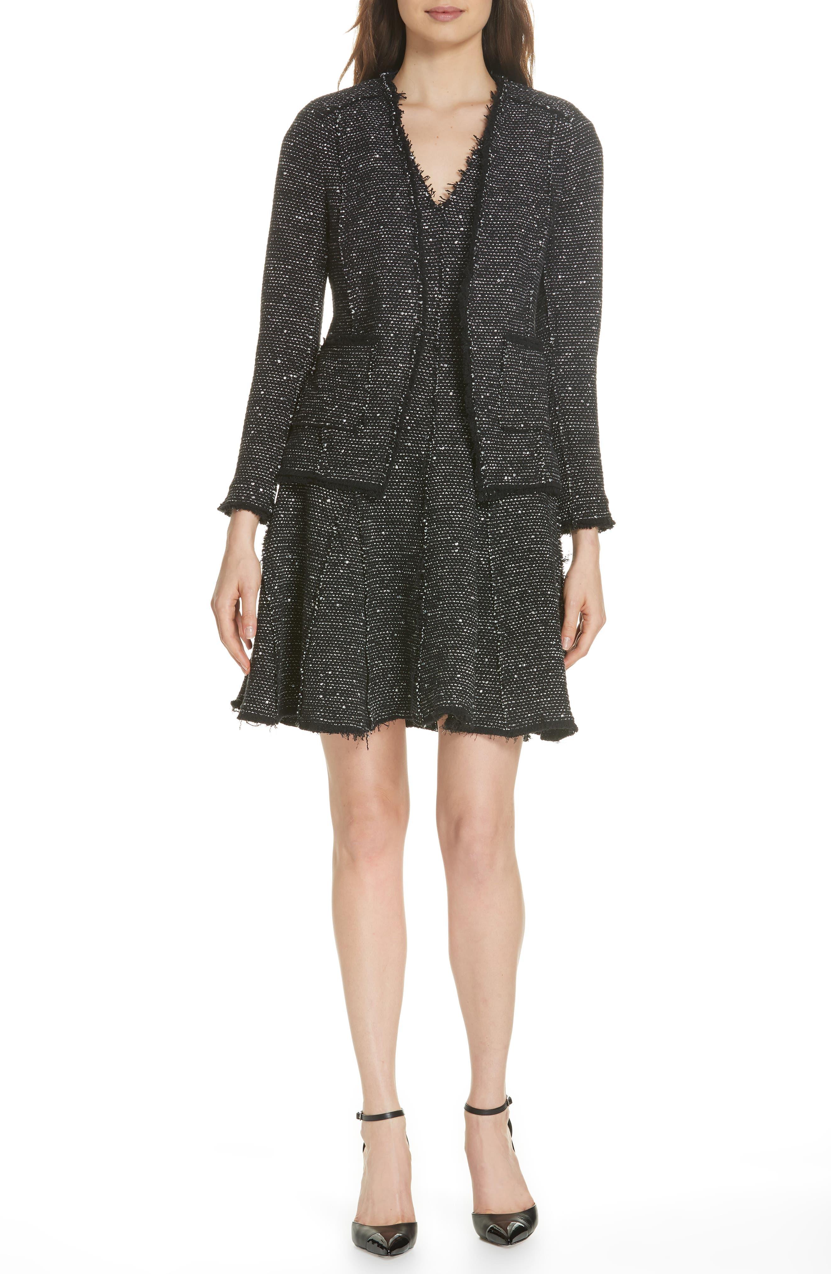 Sparkle Stretch Dress,                             Alternate thumbnail 7, color,                             BLACK