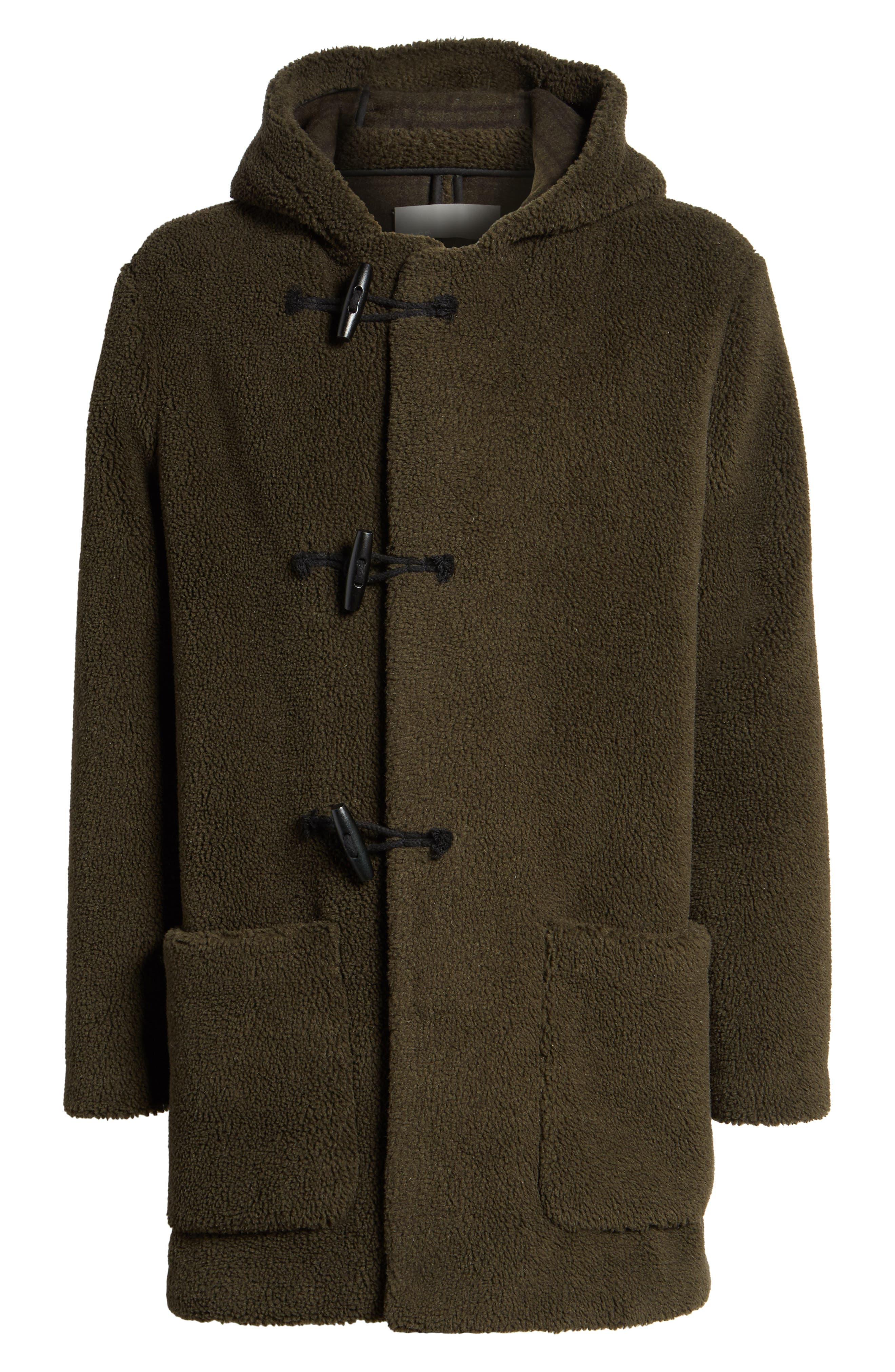 Fleece Toggle Coat,                             Alternate thumbnail 5, color,
