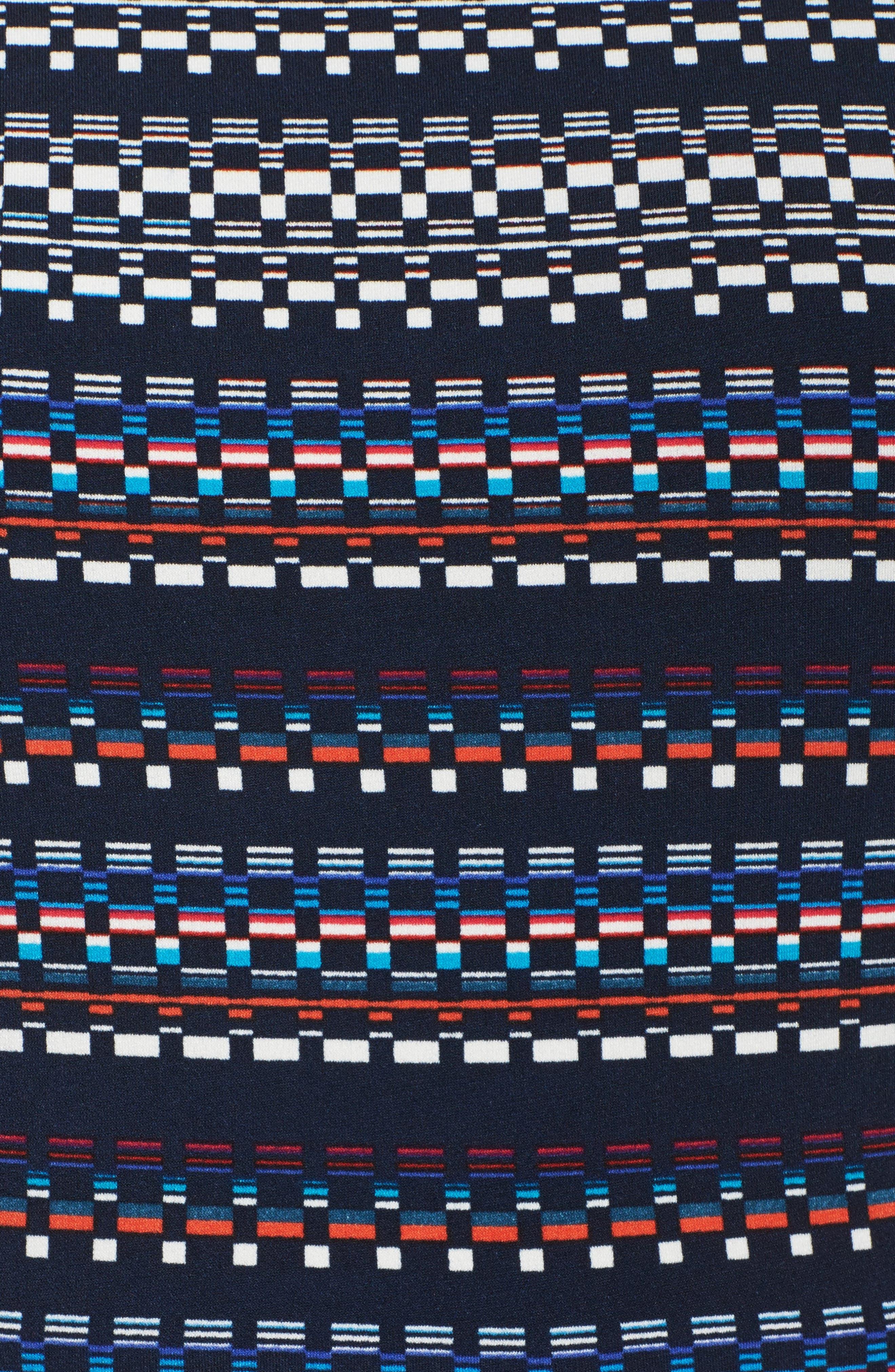Pleat Fit & Flare Dress,                             Alternate thumbnail 5, color,                             466